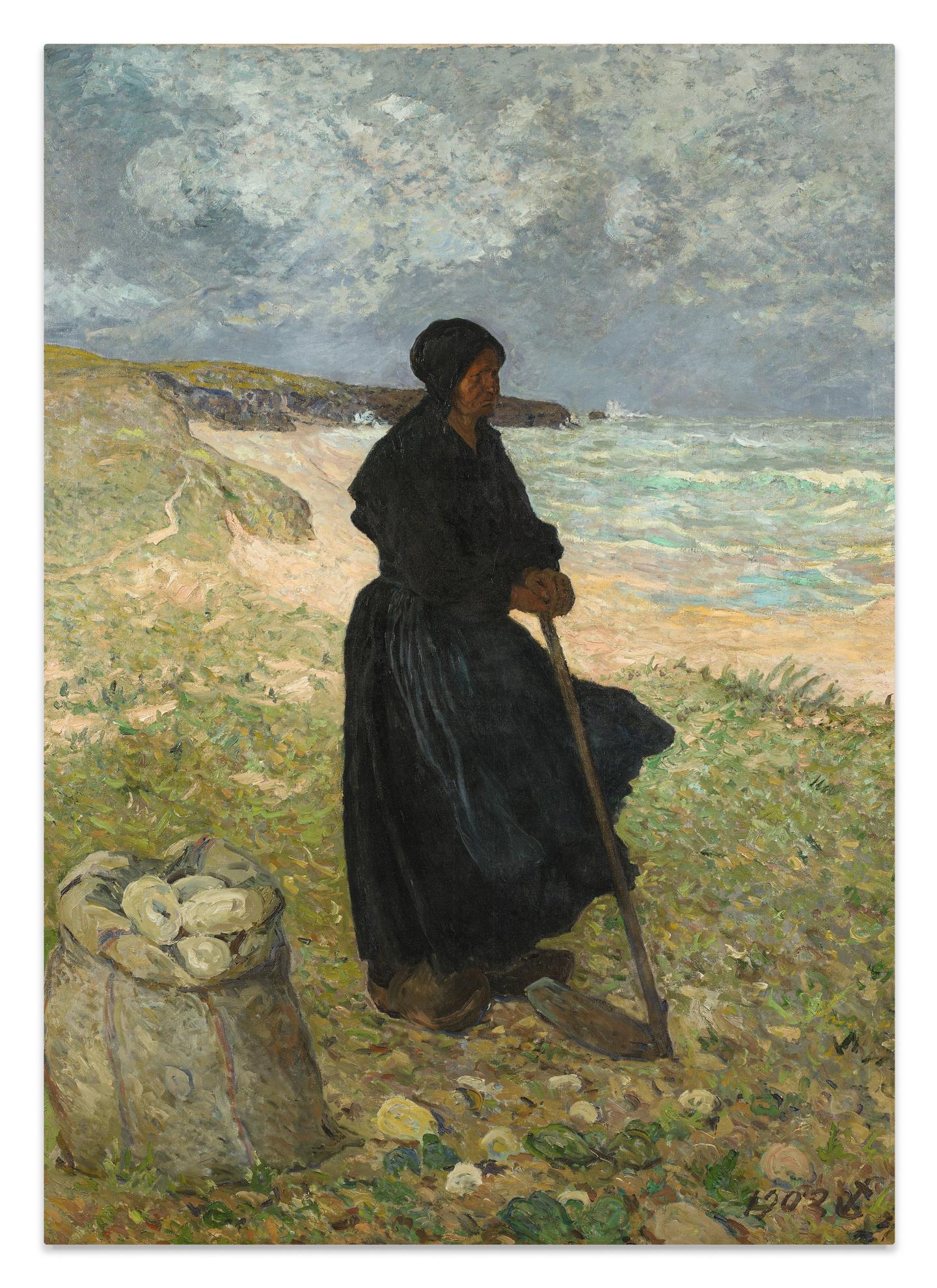 Maxime Maufra-La Ramasseuse De Pommes De Terre-1902