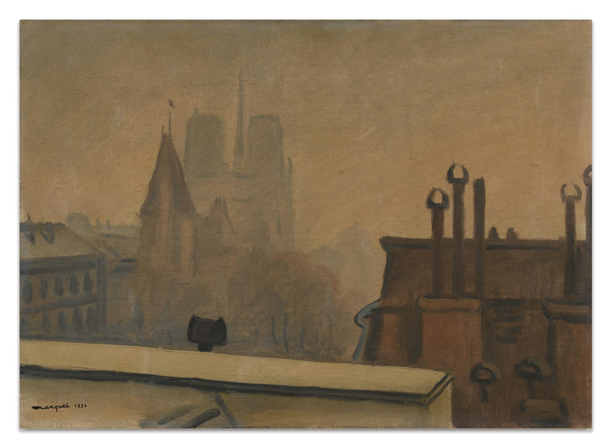 Albert Marquet-Toits De Paris-1932