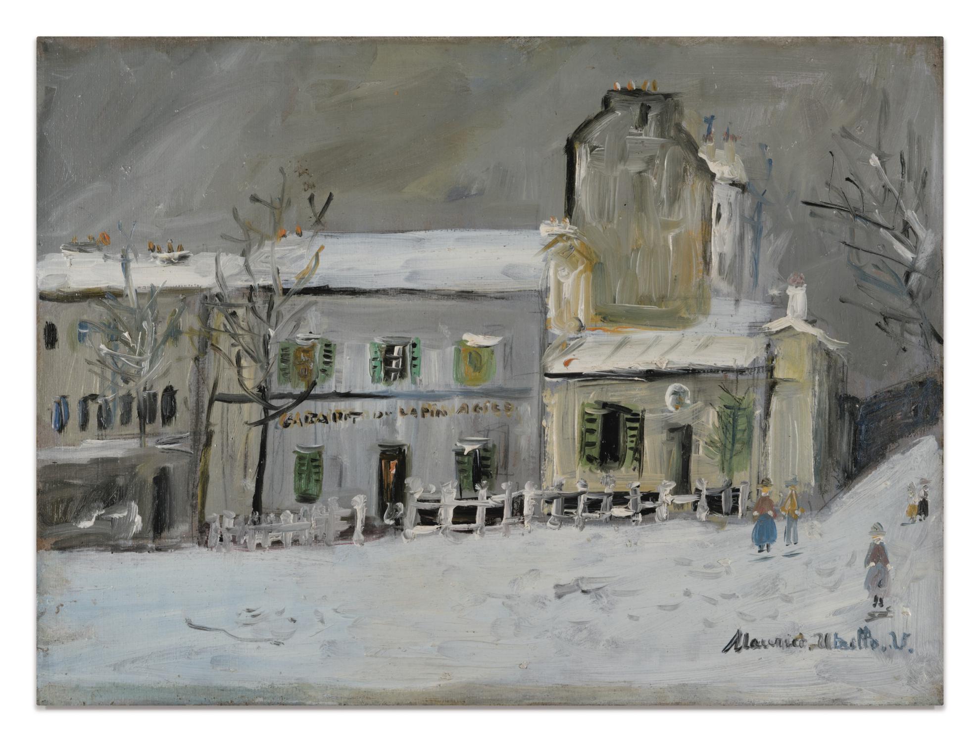 Maurice Utrillo-Le Lapin Agile Sous La Neige, Montmartre-1953