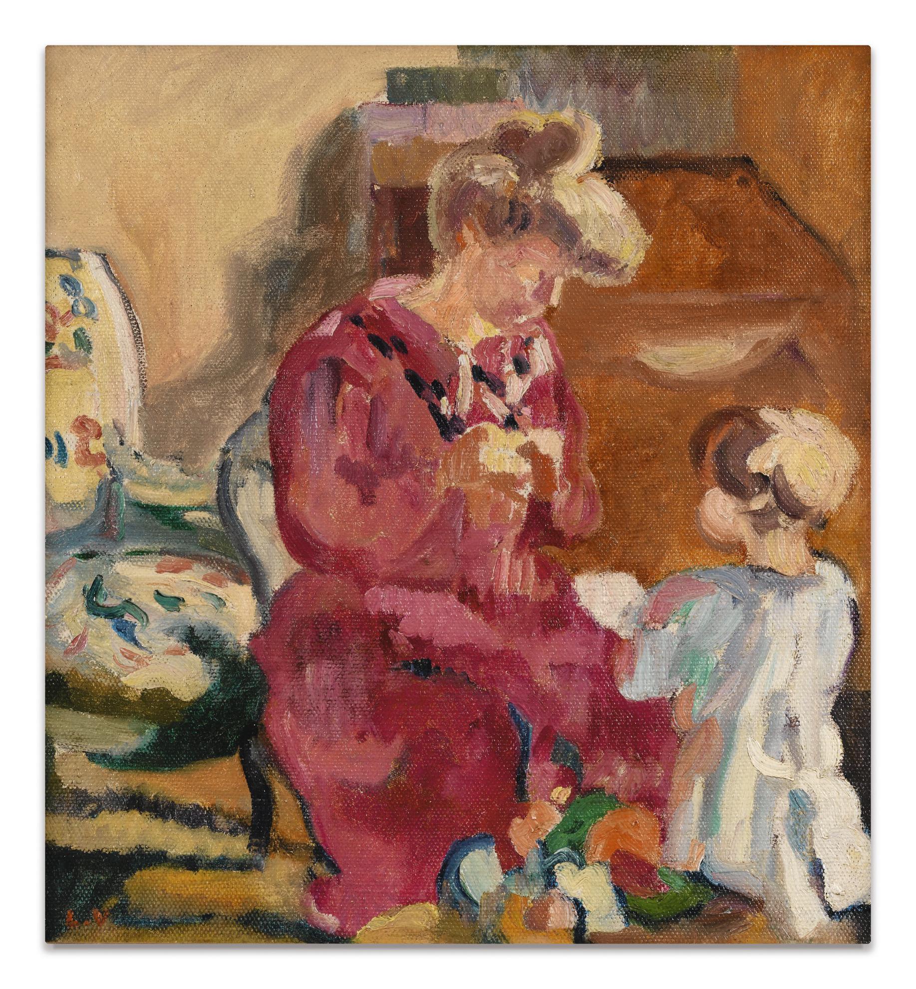 Louis Valtat-Suzanne Et Jean Enfant-1910