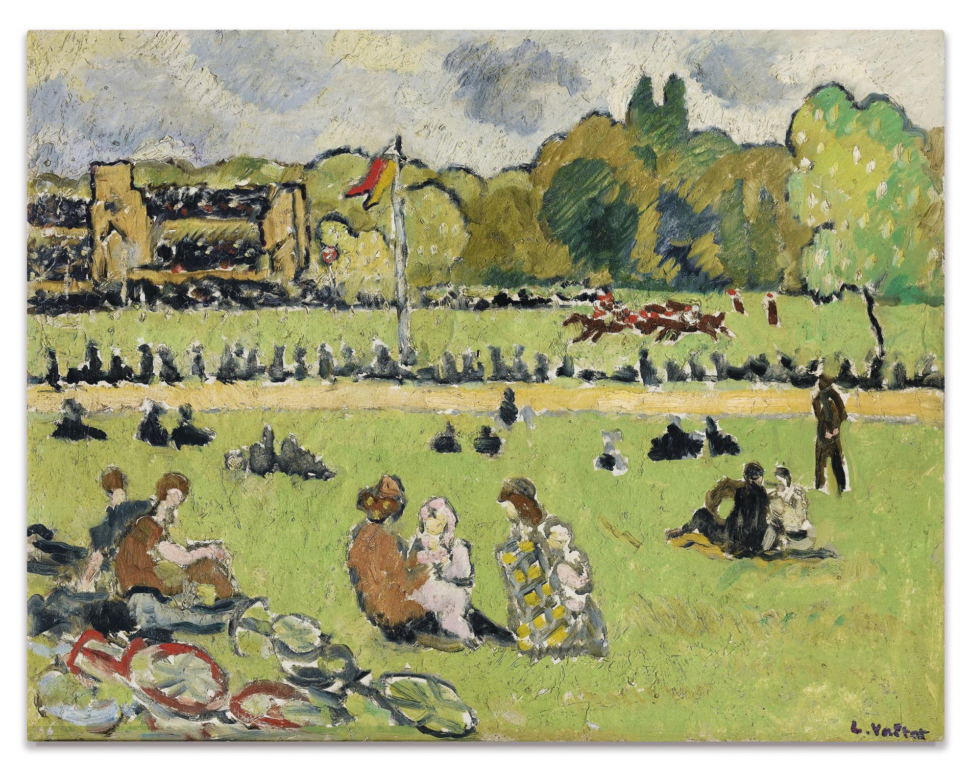 Louis Valtat-Les Courses A Auteuil-1919