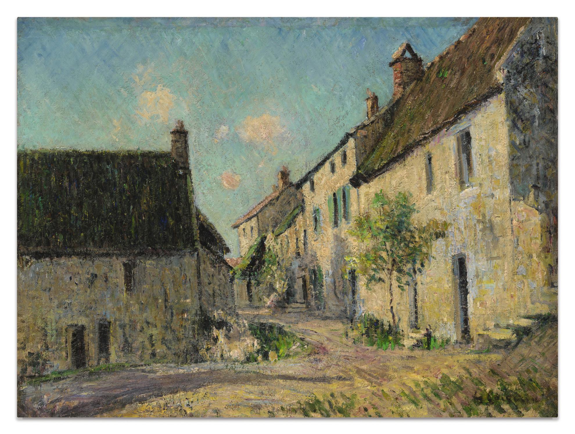 Gustave Loiseau-Vue De Village - Recto; Bouquet De Fleurs - Verso-