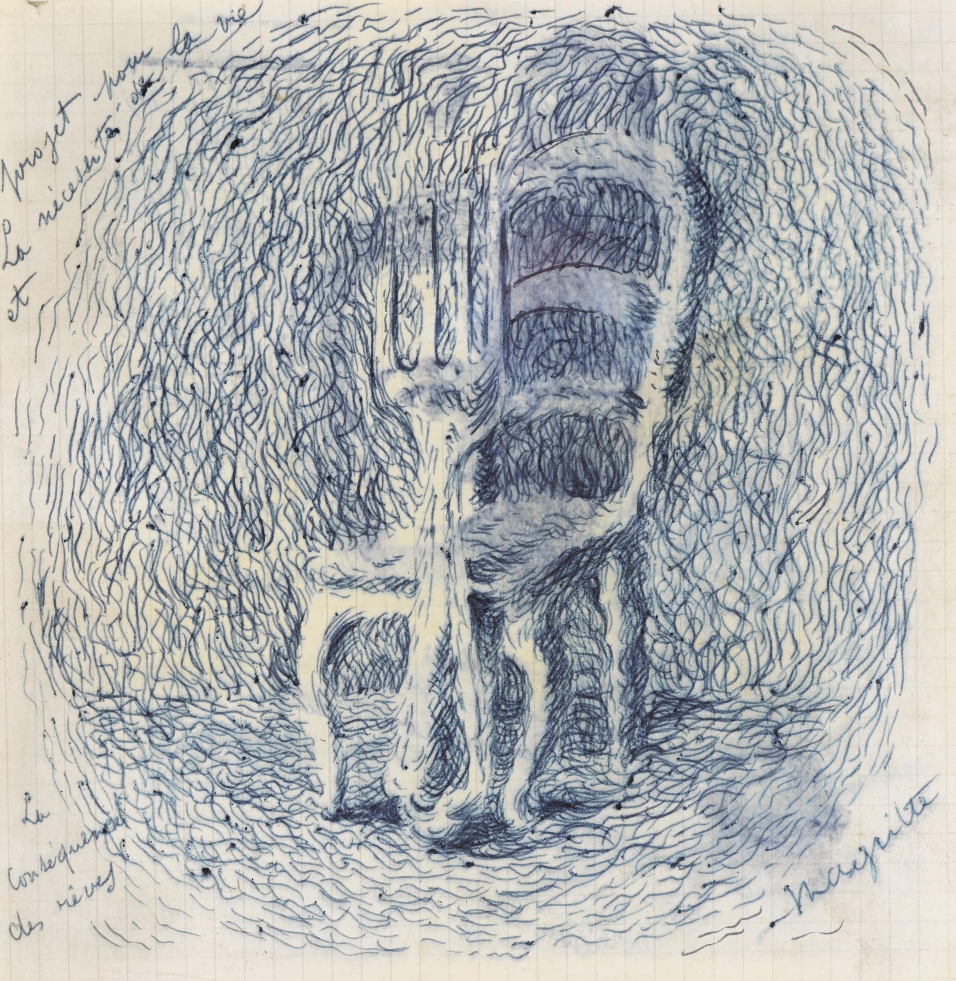 Rene Magritte-Projet Pour Les Necessites De La Vie (Recto Verso)-1940