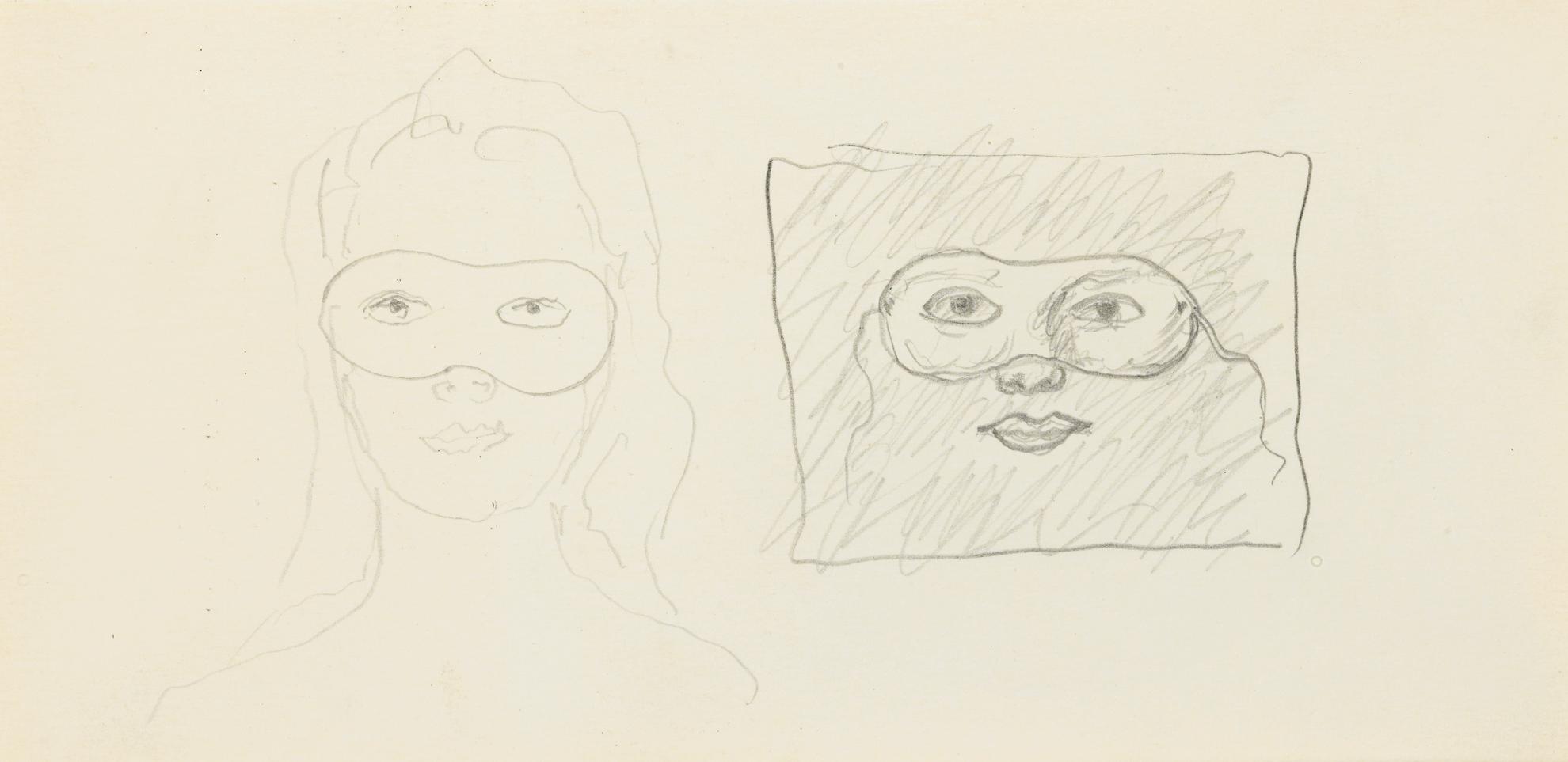 Rene Magritte-Femme Avec Masque-1967