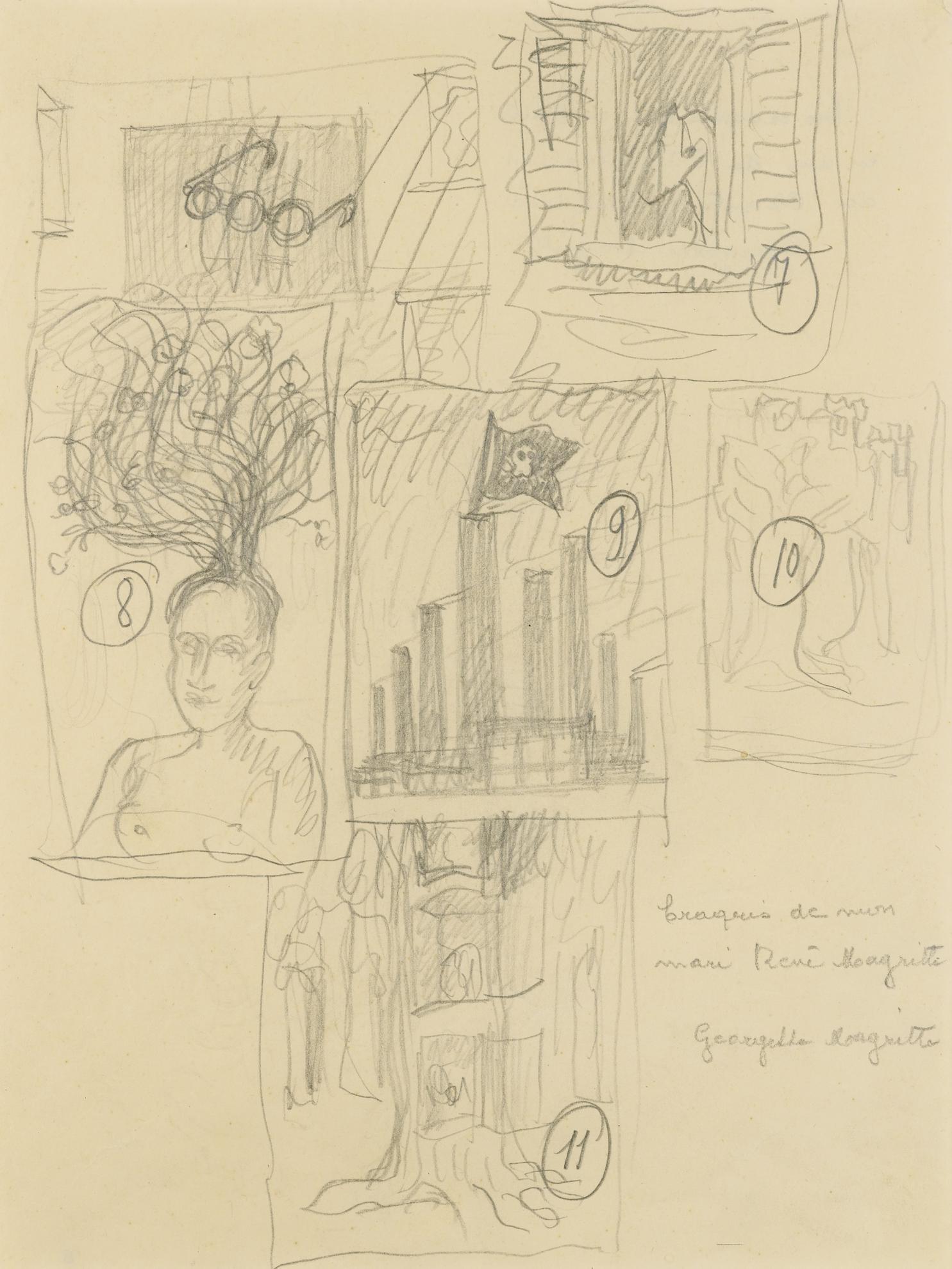 Rene Magritte-Etude Pour Les Chants De Maldoror-