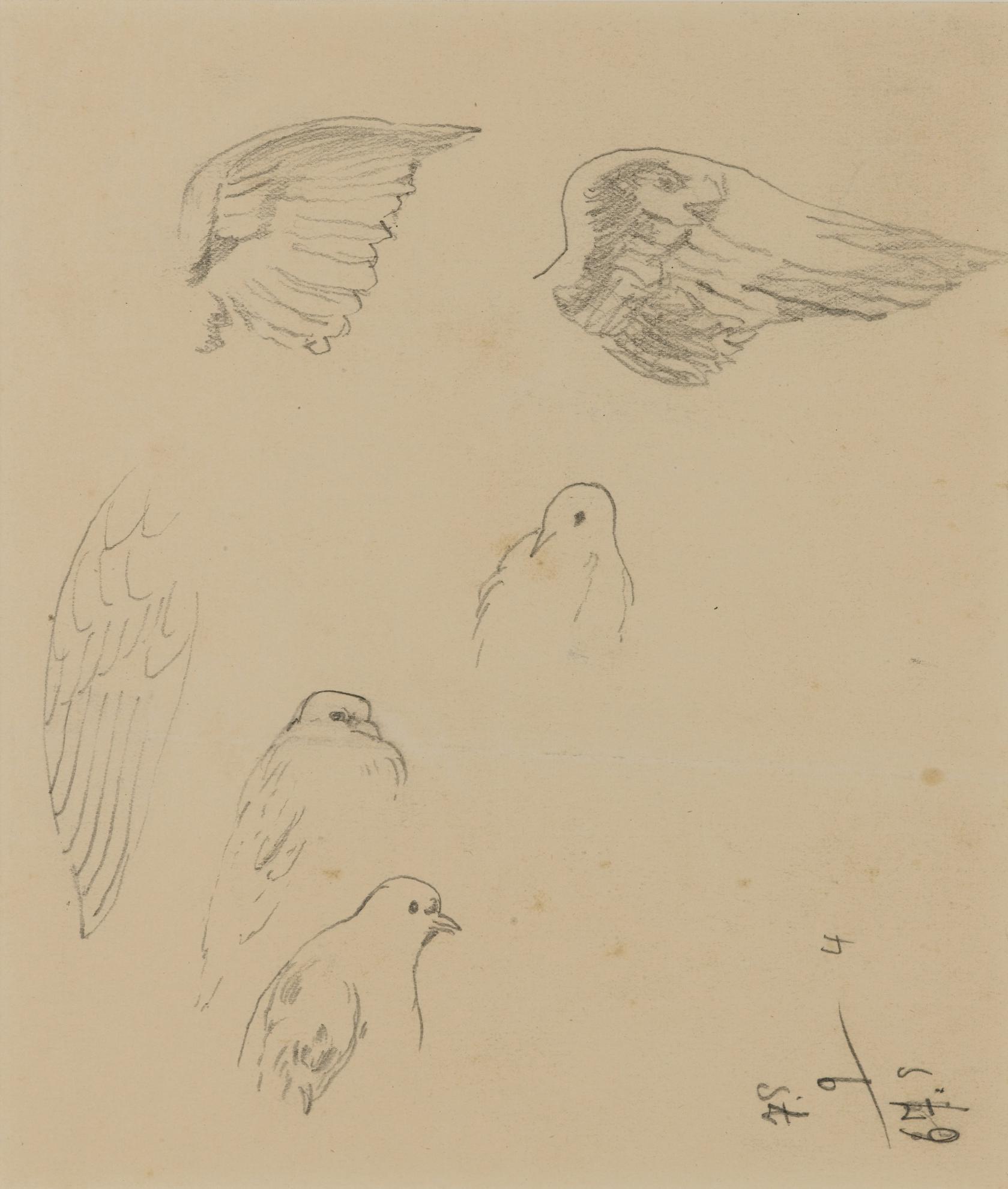 Rene Magritte-Esquisse De Colombes-1940
