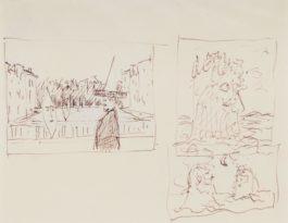 Rene Magritte-Composition A La Lune (Recto - Verso)