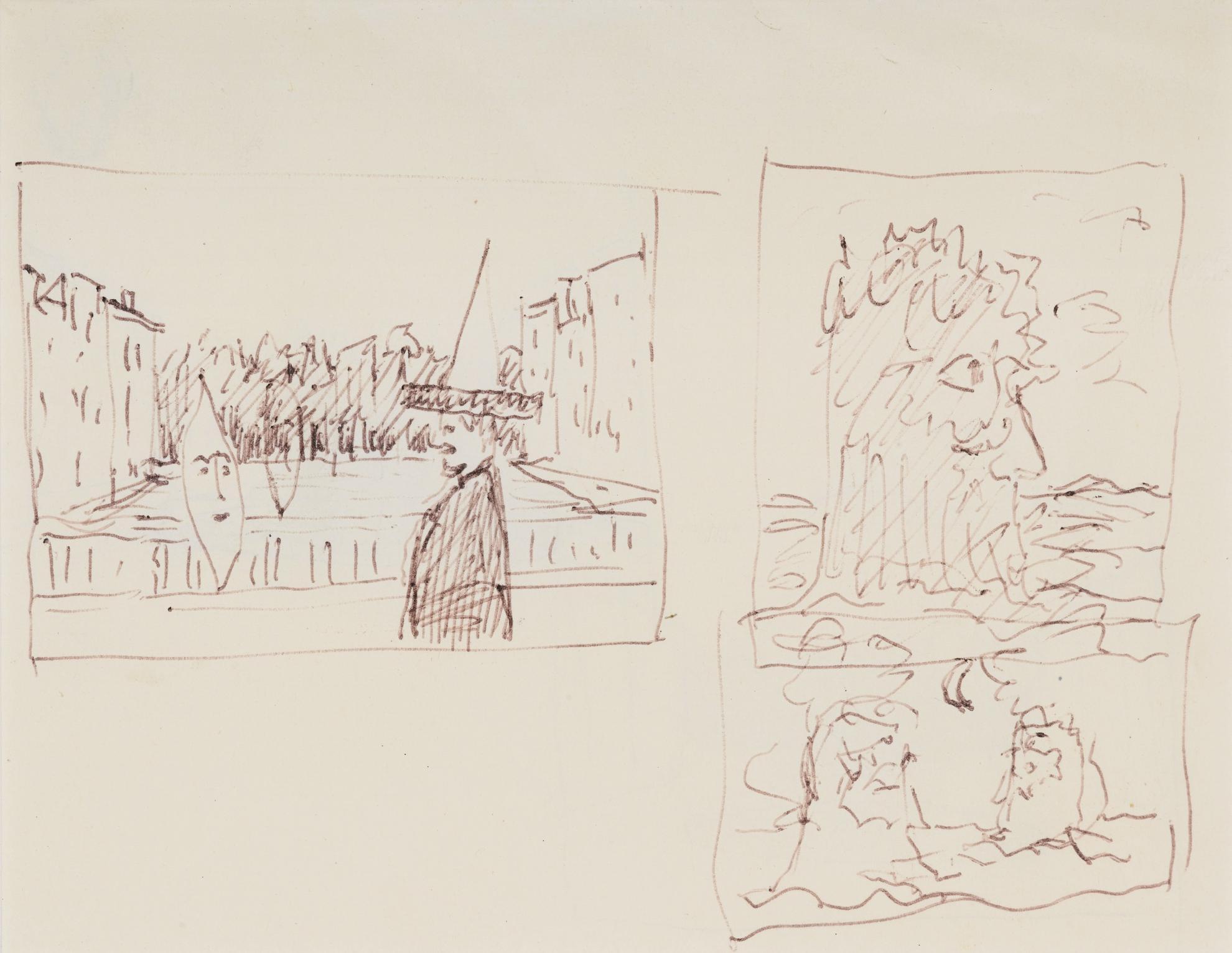 Rene Magritte-Composition A La Lune (Recto - Verso)-