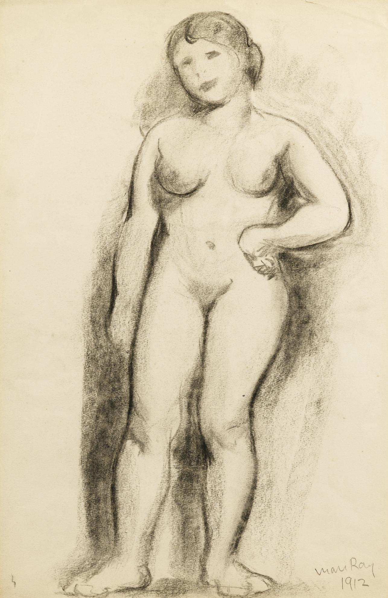 Man Ray-Standing Nude (Ariel Durant)-1912