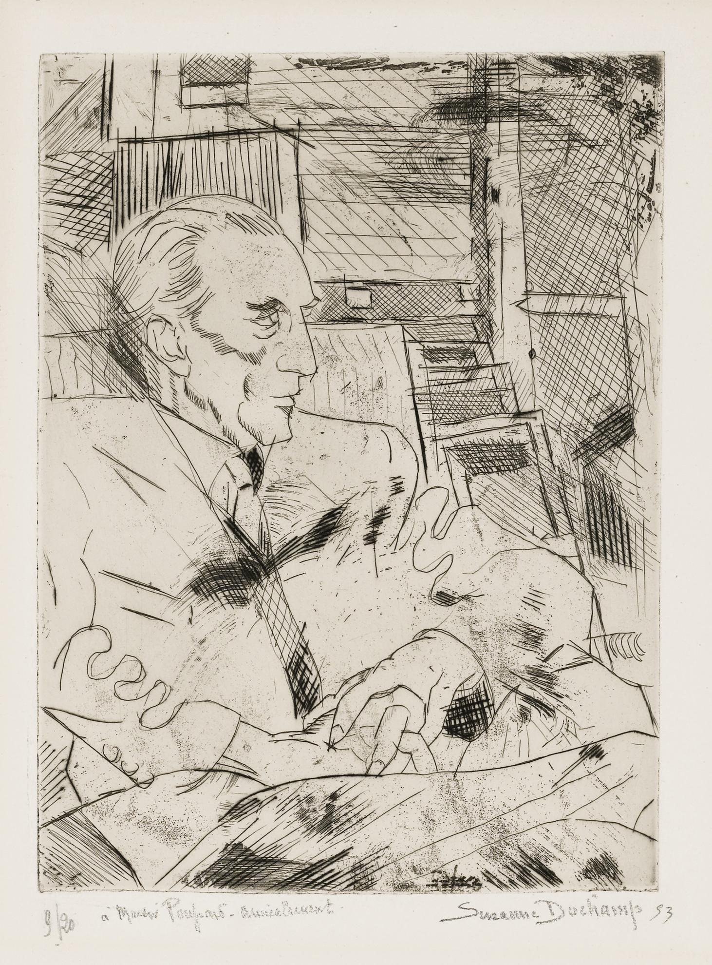 Suzanne Duchamp-Portrait De Marcel Duchamp-1953
