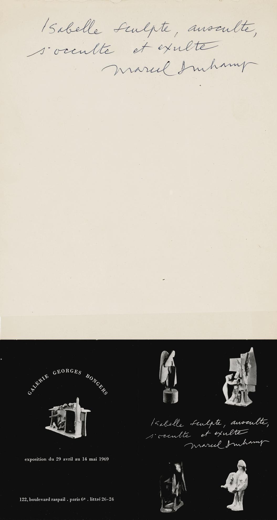 Marcel Duchamp-Isabelle Sculpte...-1967