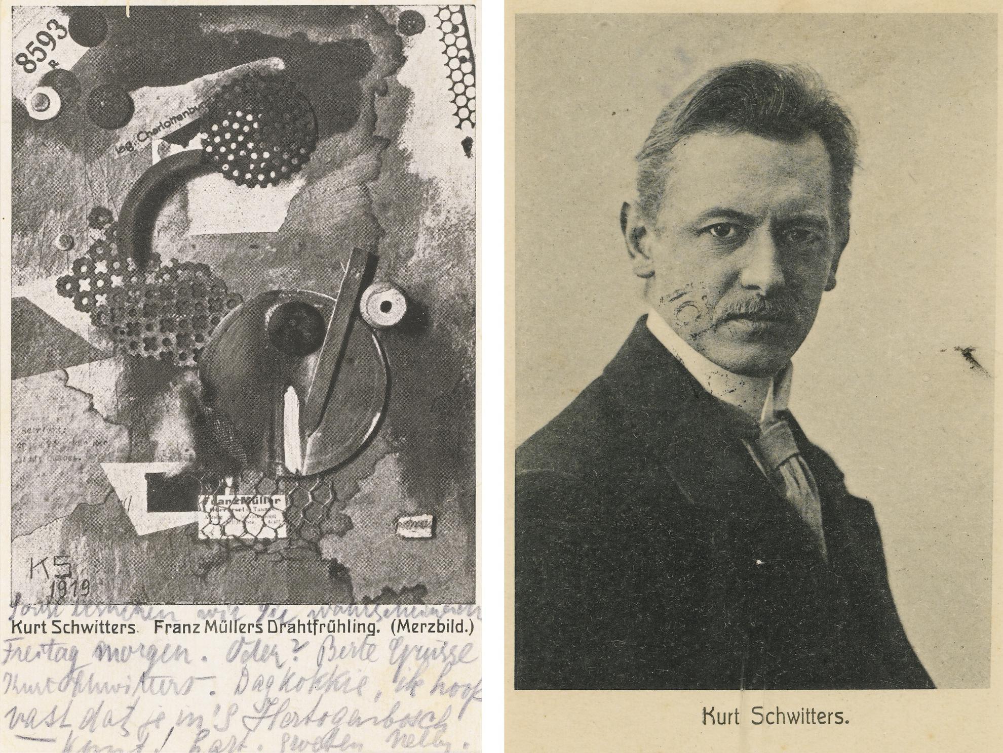 Kurt Schwitters-(i) Franz Mullers Drahtfruhling (Merz Bild) (Franz Mullers Wire Springtime (Merz Bild)) (ii) Veraltet-