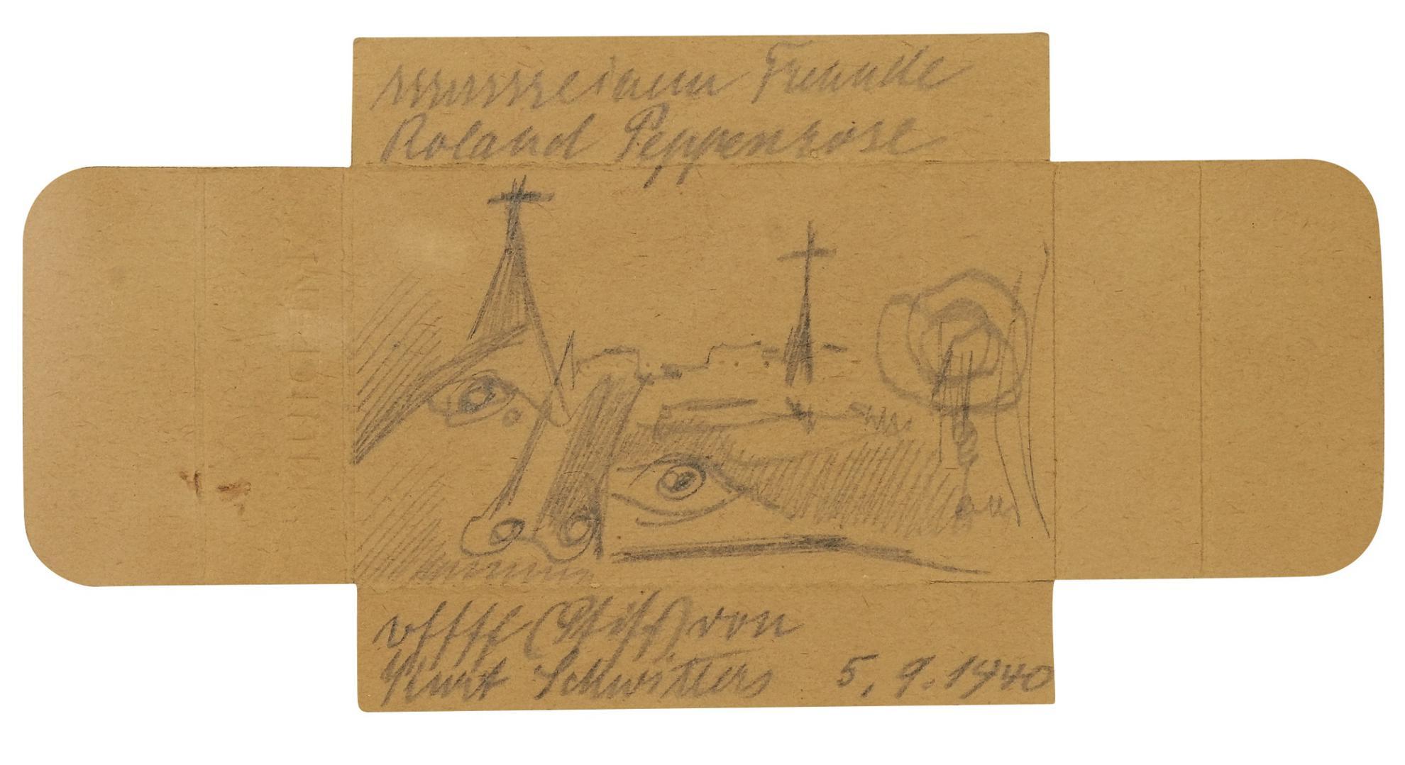 Kurt Schwitters-Sssssssseinem Freunde Roland Peppenrose (Penrose) (Hissssssss Friend Roland Peppenrose (Penrose))-1940