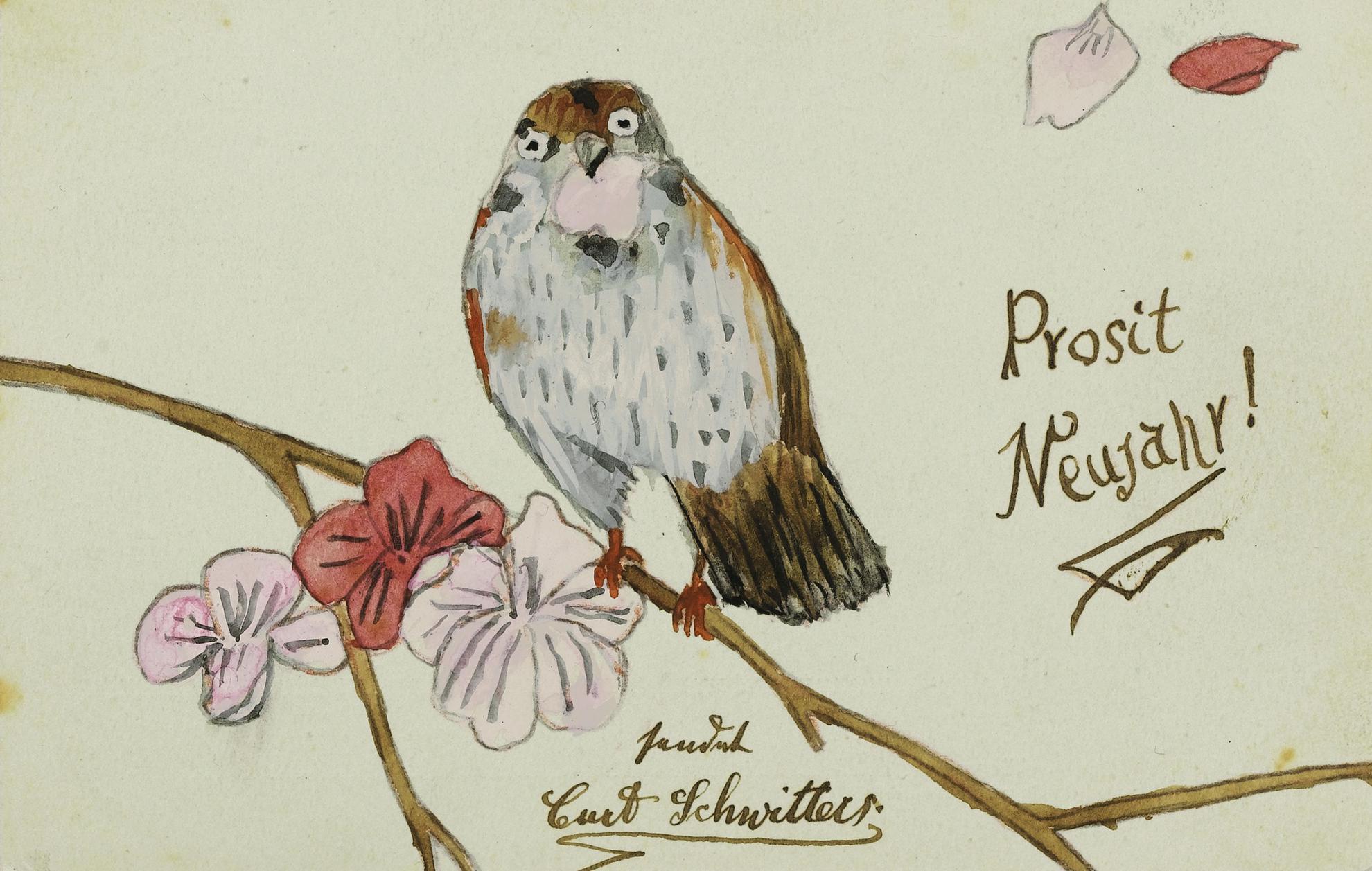 Kurt Schwitters-Ohne Titel (Prosit Neujahr!) (Untitled (Happy New Year!))-1907