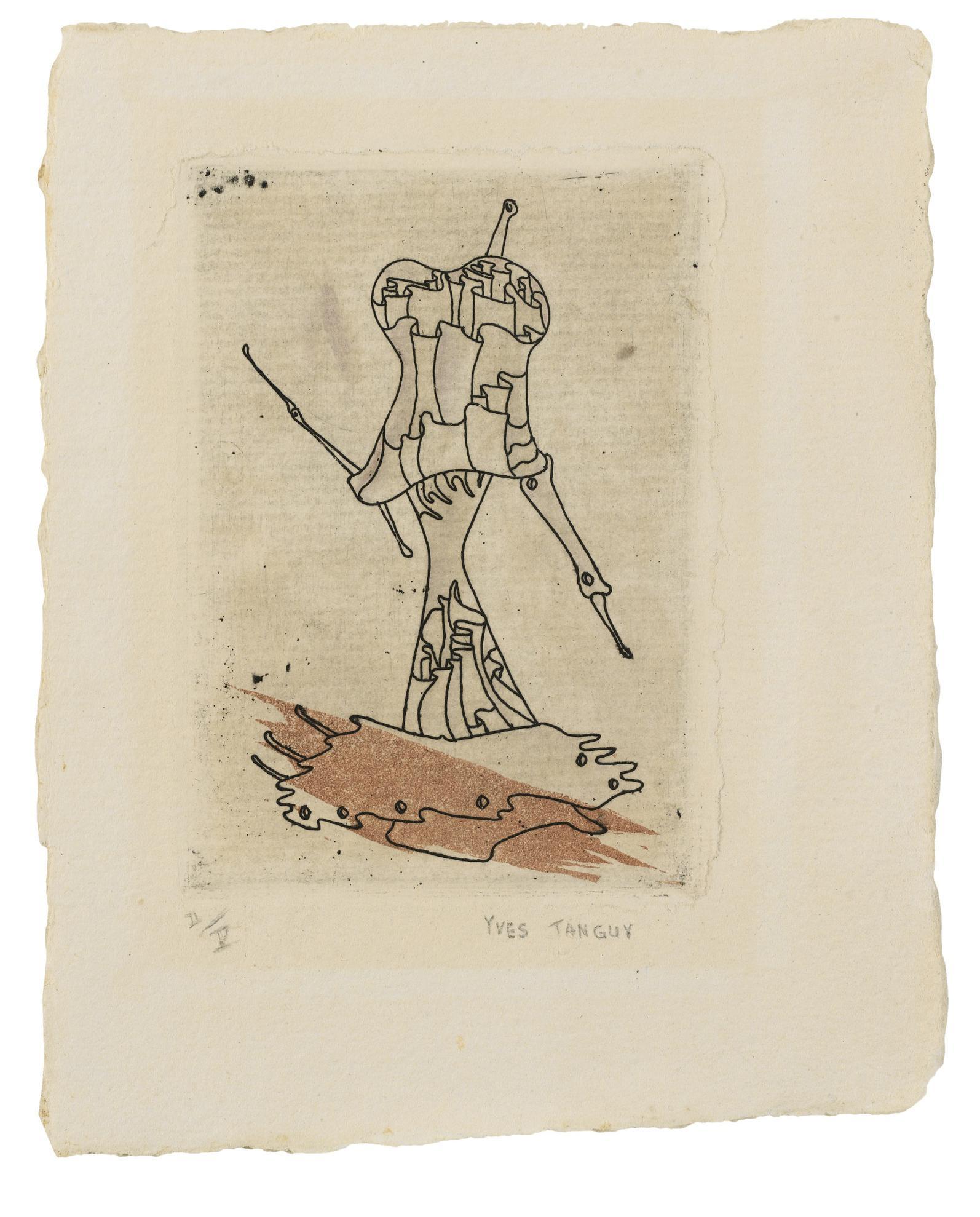 Yves Tanguy-Ohne Titel (Untitled) (Wittrock 17 E)-1947