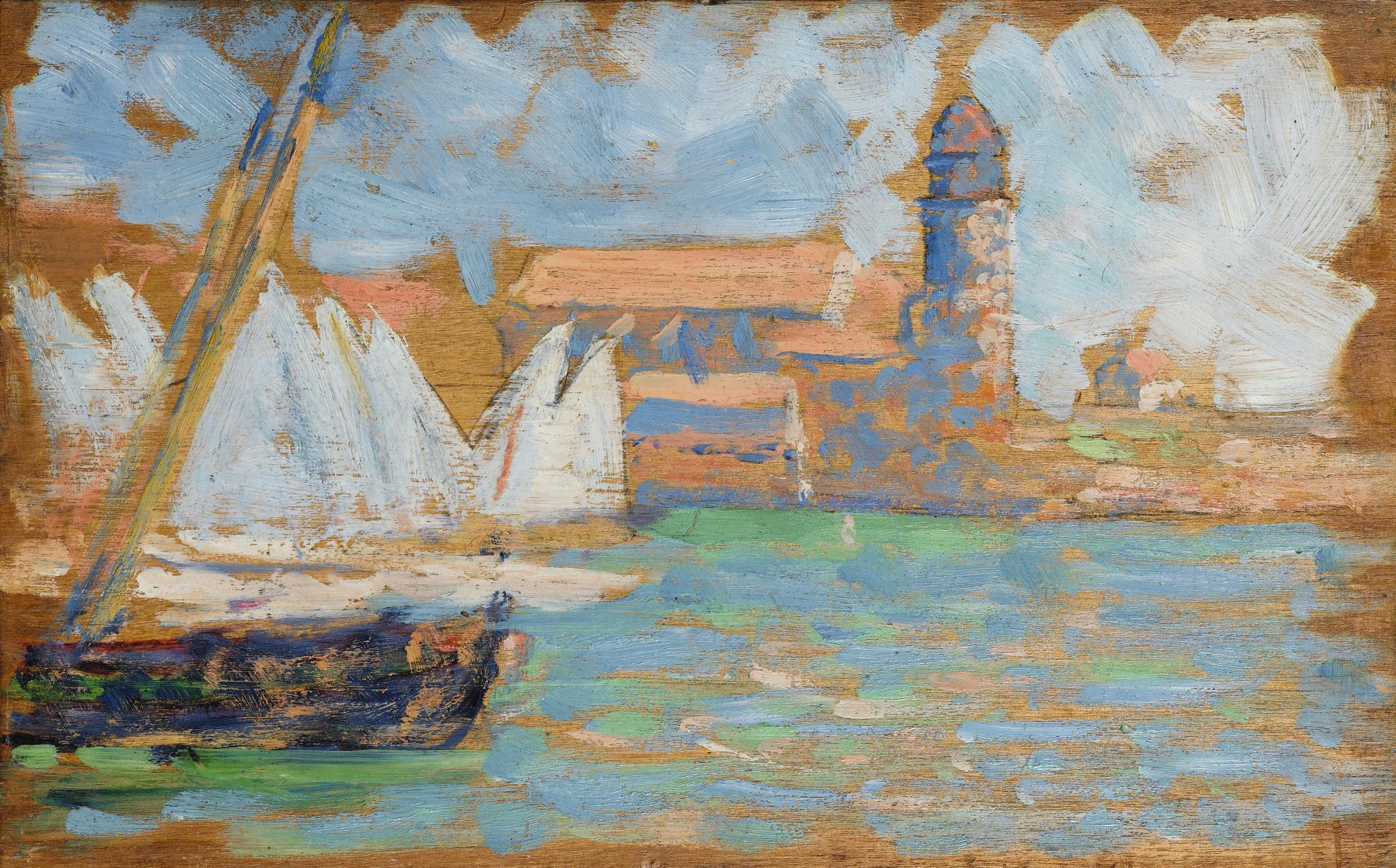 Paul Signac-Collioure (Etude)-1887