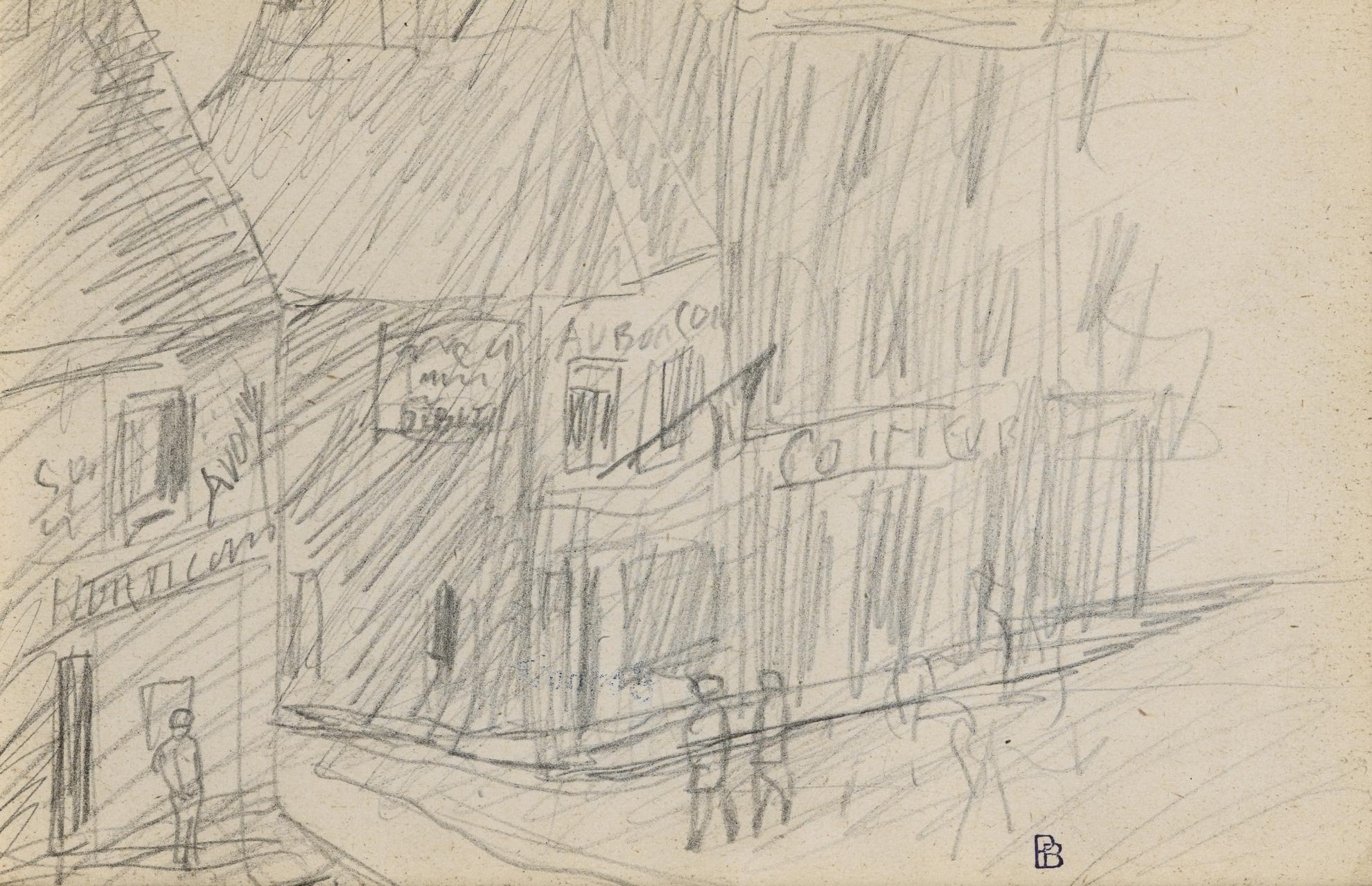 Pierre Bonnard-Au Bon Coin Scene De Rue-