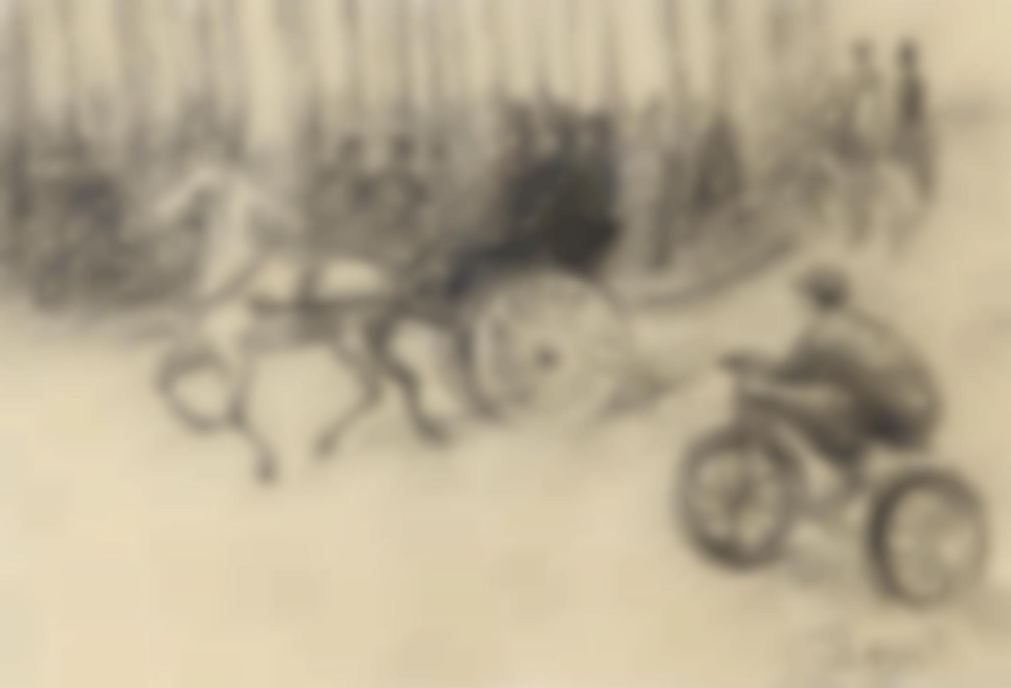 Louis Hayet - Paris, Scene De Rue-1896