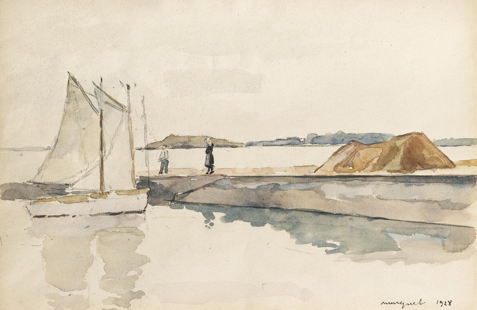 Albert Marquet-Environs Daudierne, Bretagne-1928