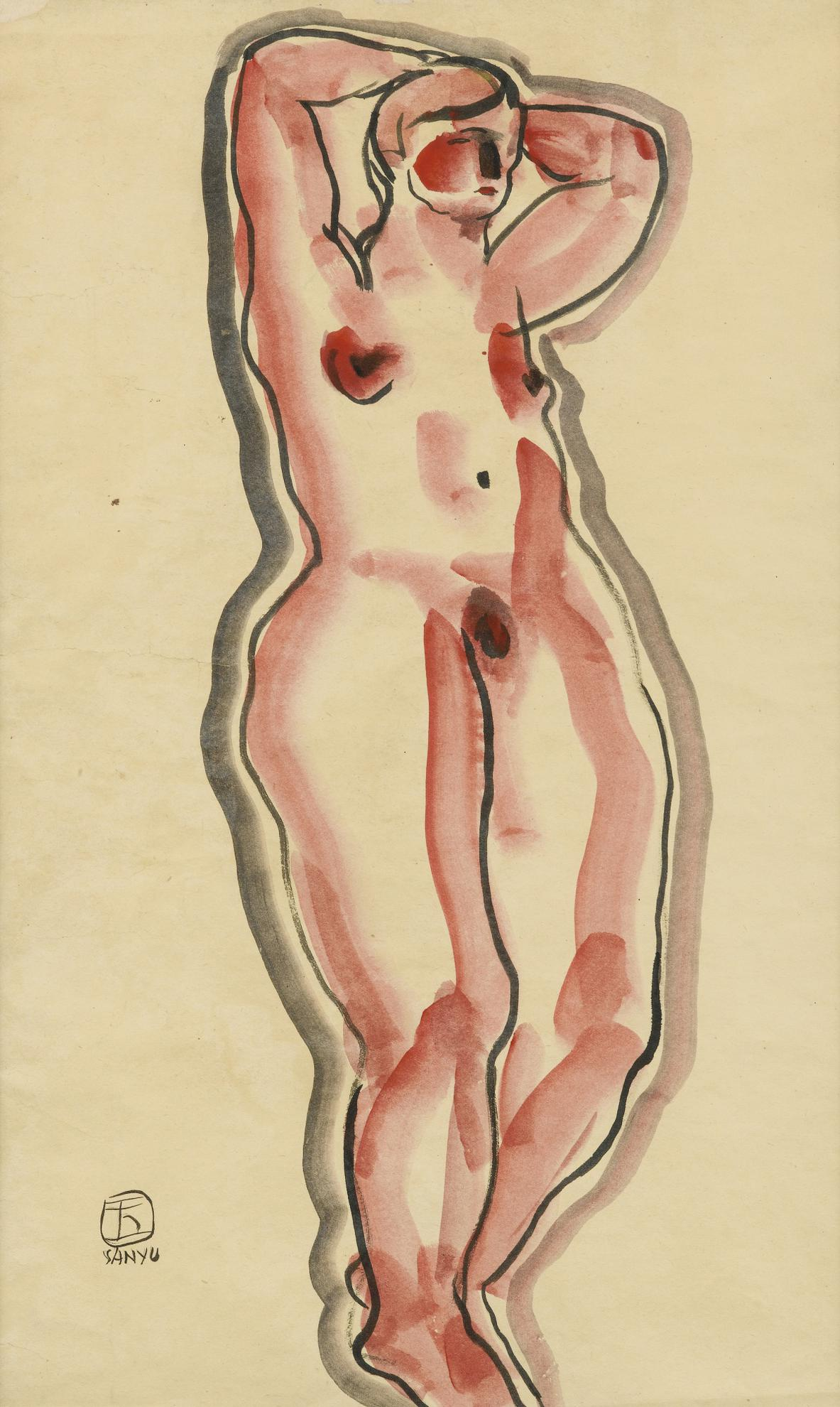 Sanyu-Femme Aux Bras Leves-1930