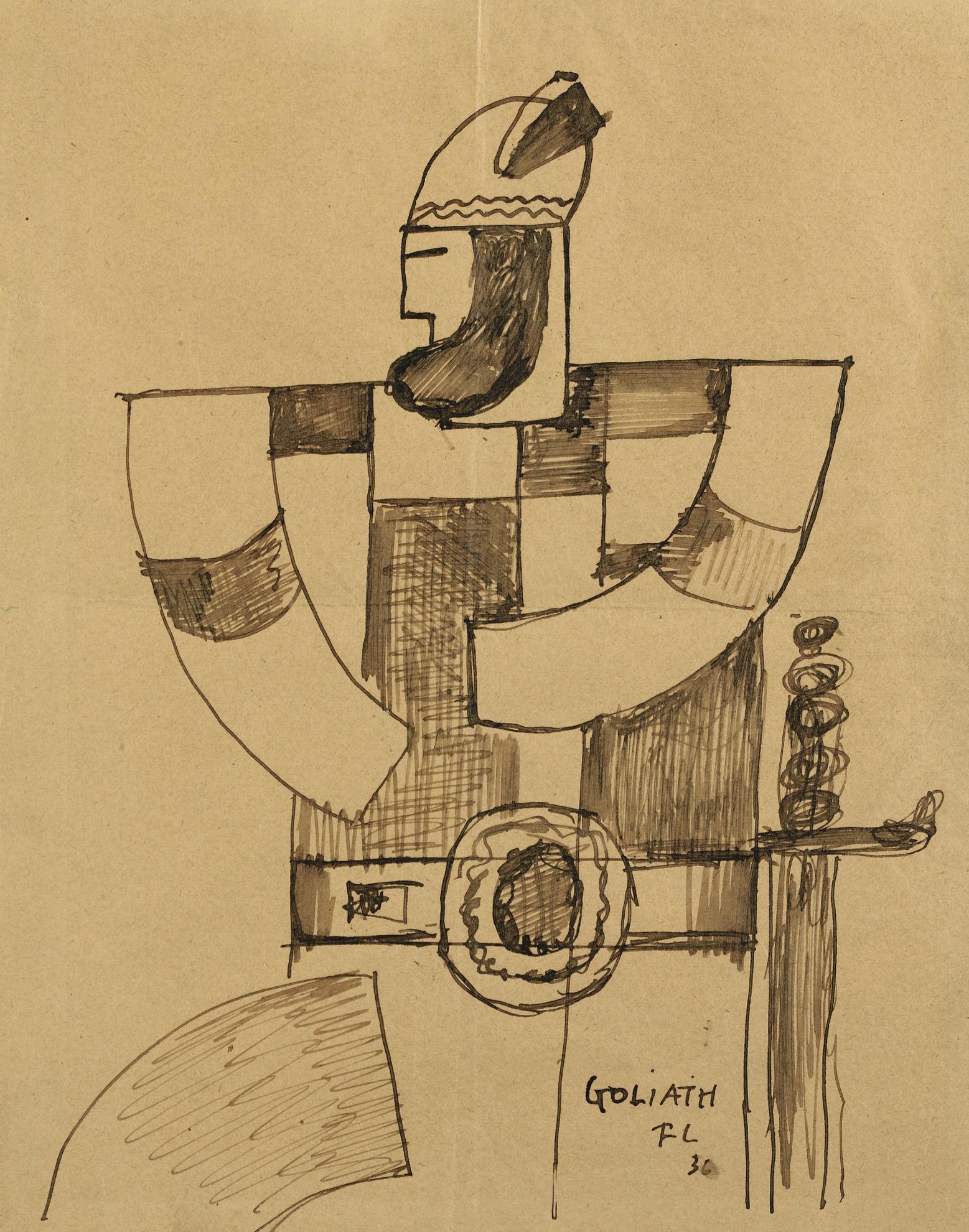 Fernand Leger-David Triomphant - Goliath-1936