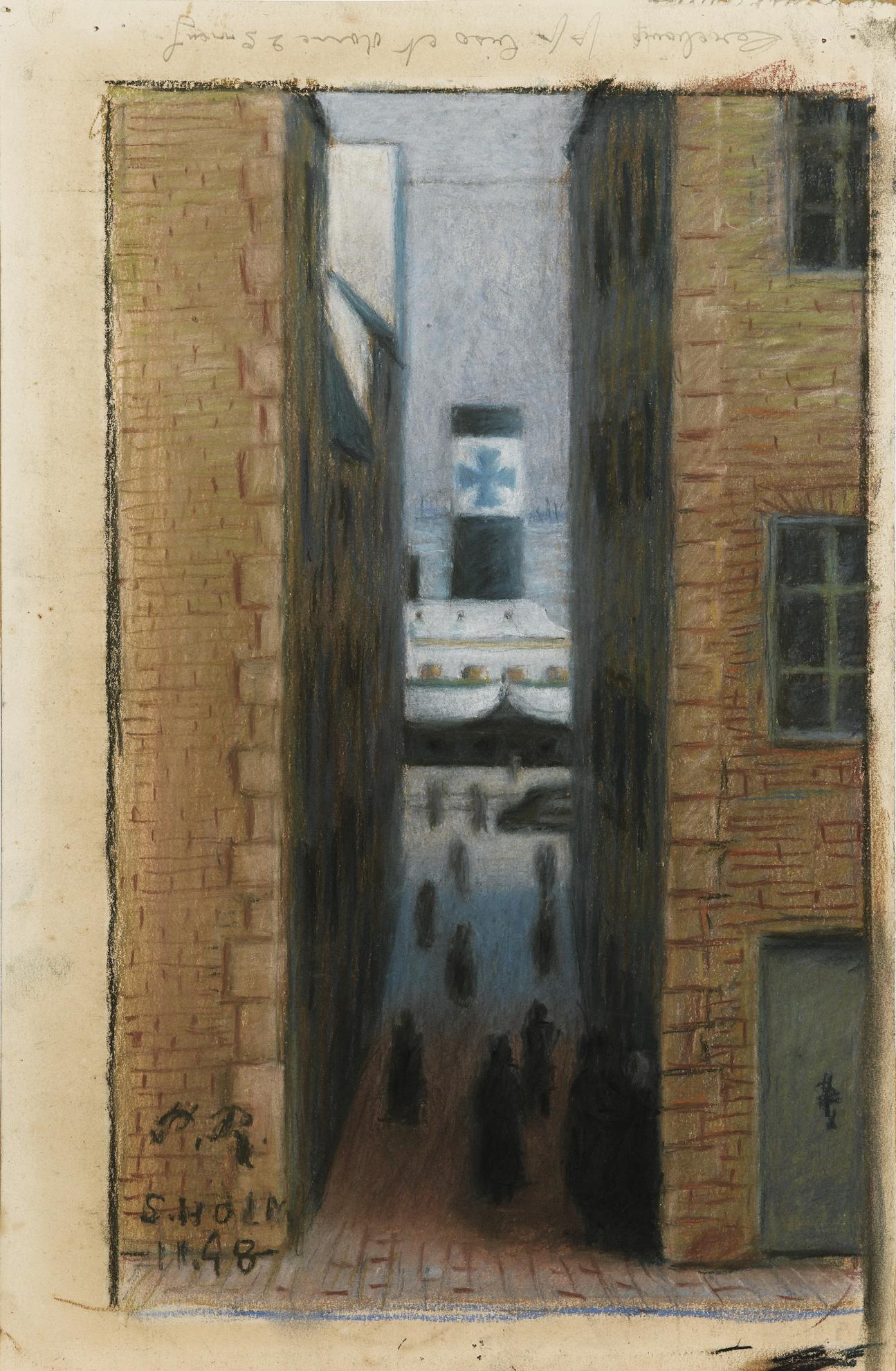 Pierre Roy - Le Port De Stockholm-1948