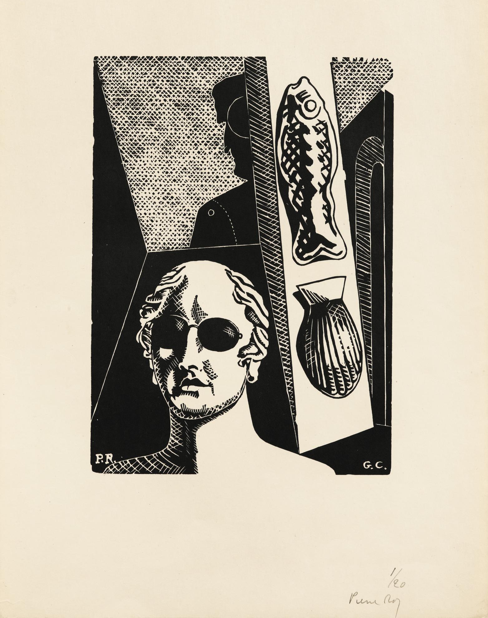 Pierre Roy - Portrait Premonitoire De Guillaume Apollinaire-