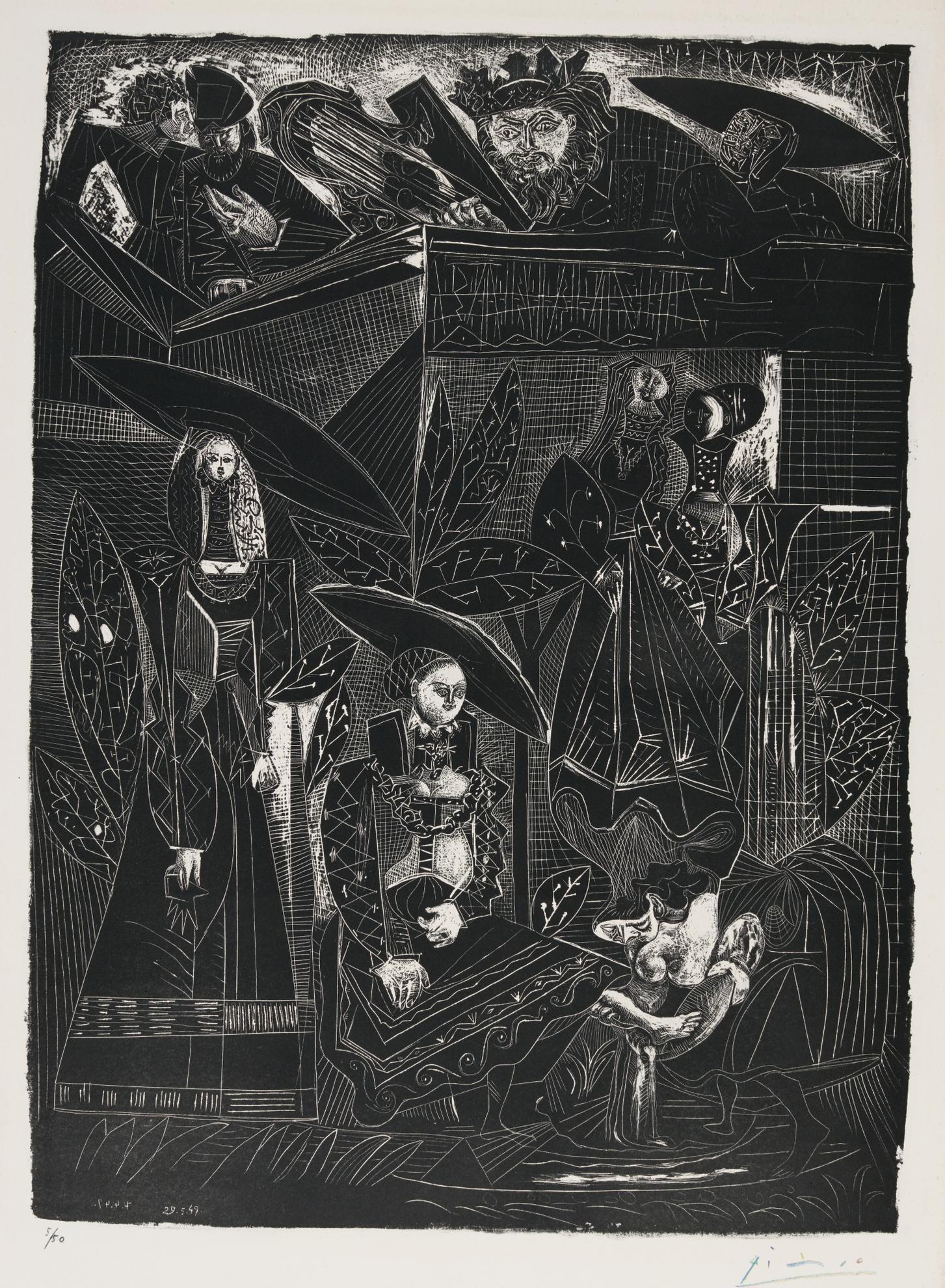 Pablo Picasso-David Et Bethsabee (B. 441; M., Pp. 109)-1947
