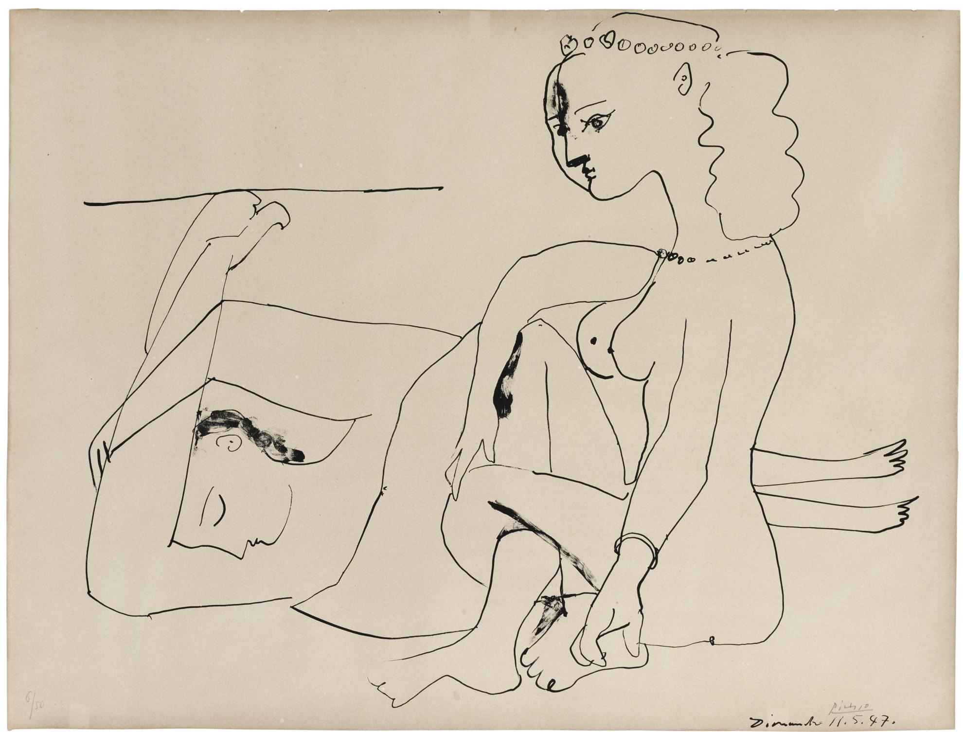 Pablo Picasso-Femmes Sur La Plage (B. 452; M., Pp. 101)-1947