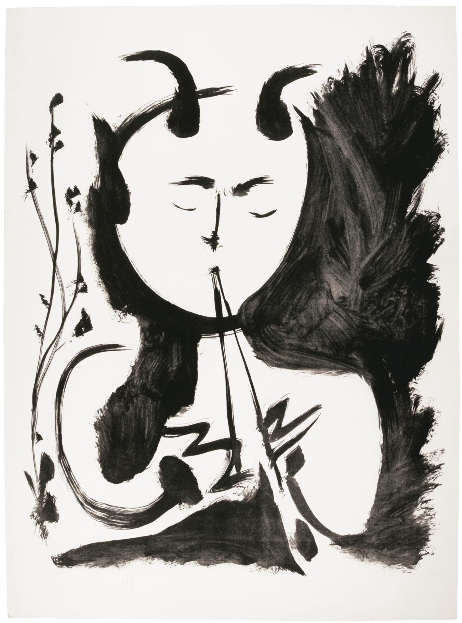 Pablo Picasso-Faune Musicien No. 4 (B. 522; M., Pp. 115)-1948