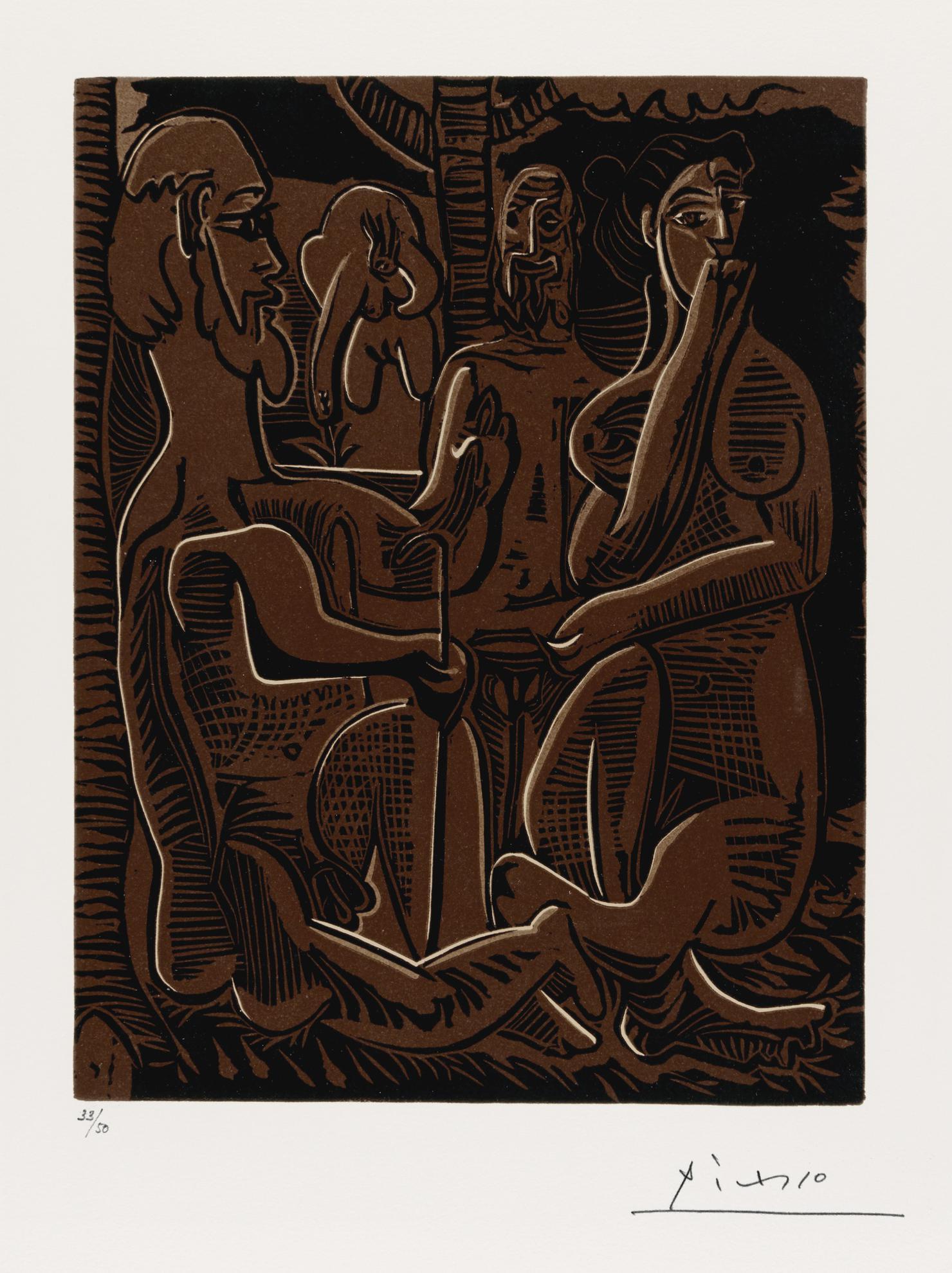 Pablo Picasso-Le Dejeuner Sur L Herbe Dapres Manet (B. 1096; Ba. 1328; Pp. L-149)-1962