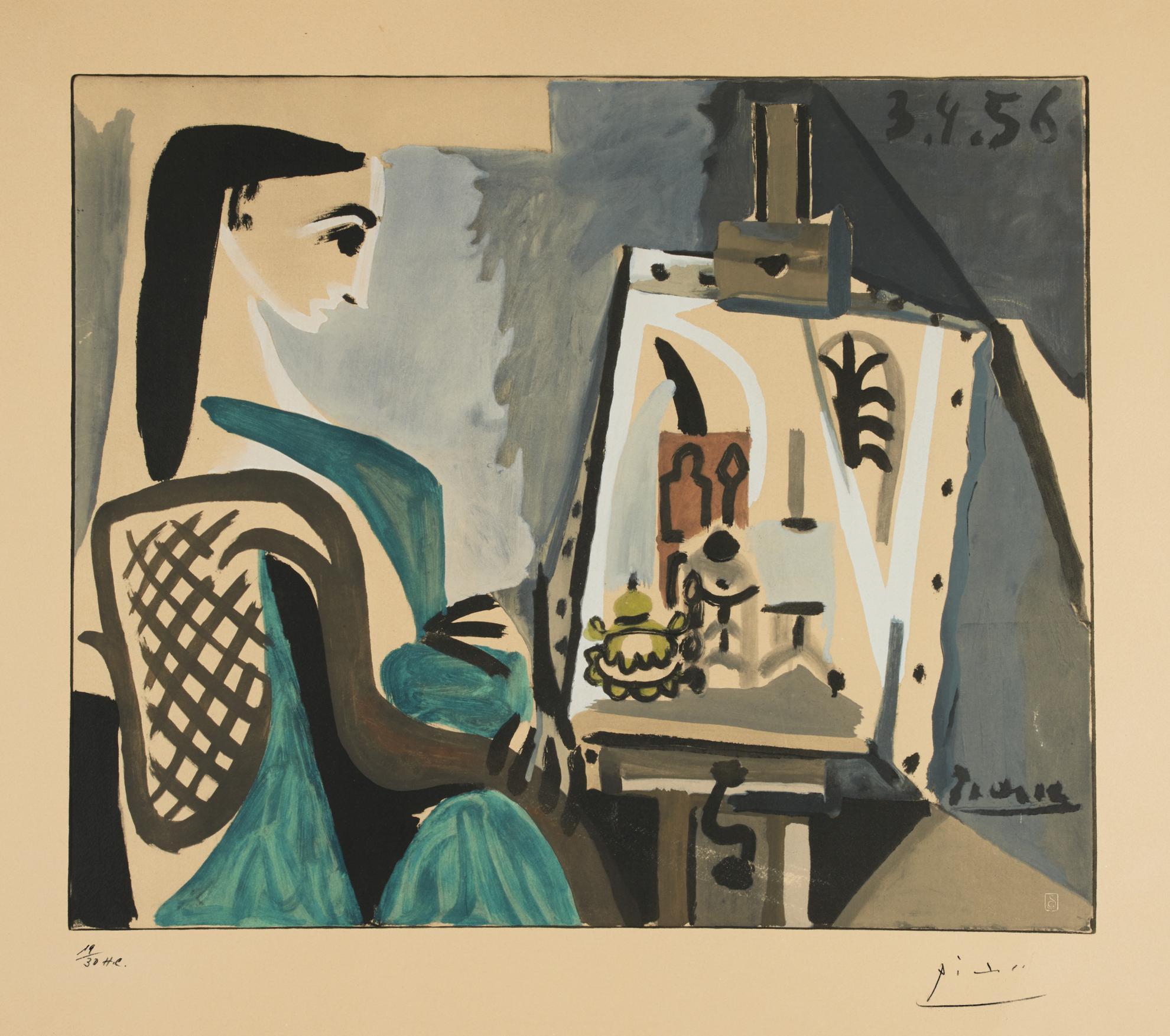 After Pablo Picasso - Femme Dans Latelier-1956