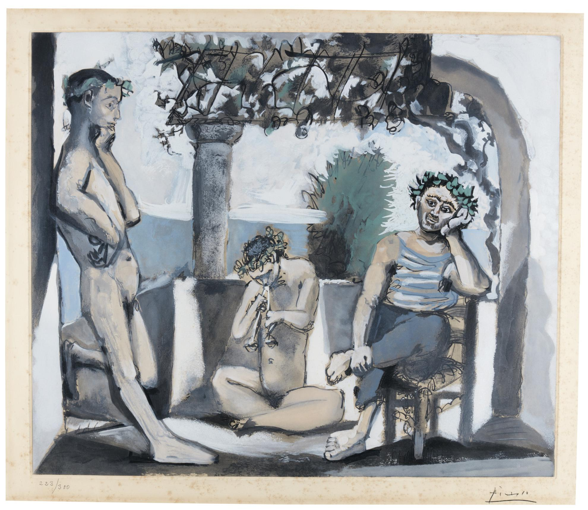 After Pablo Picasso - Bacchanale-1955