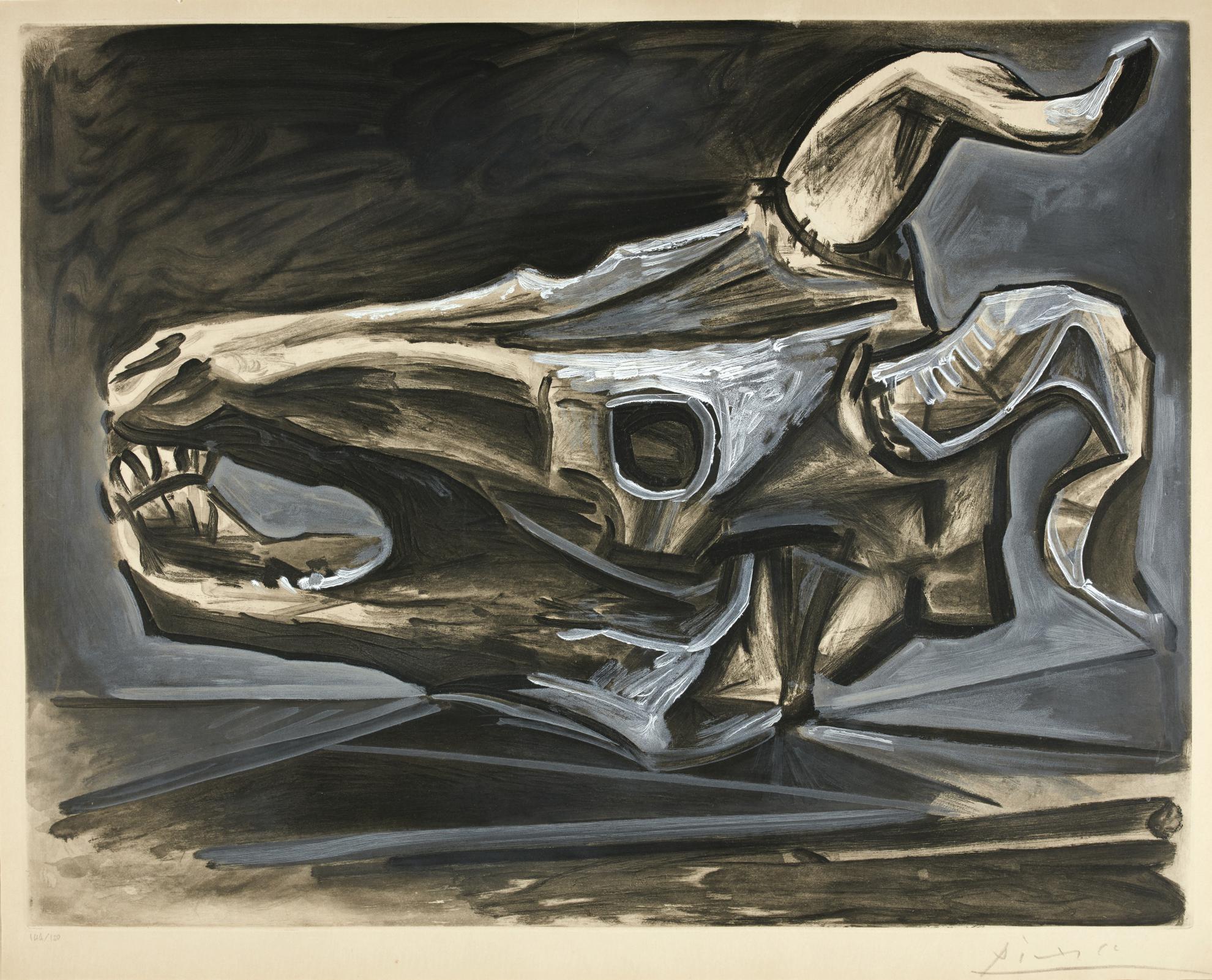 Pablo Picasso-Crane De Chevre Sur La Table (B. 696; Ba. 903)-1952