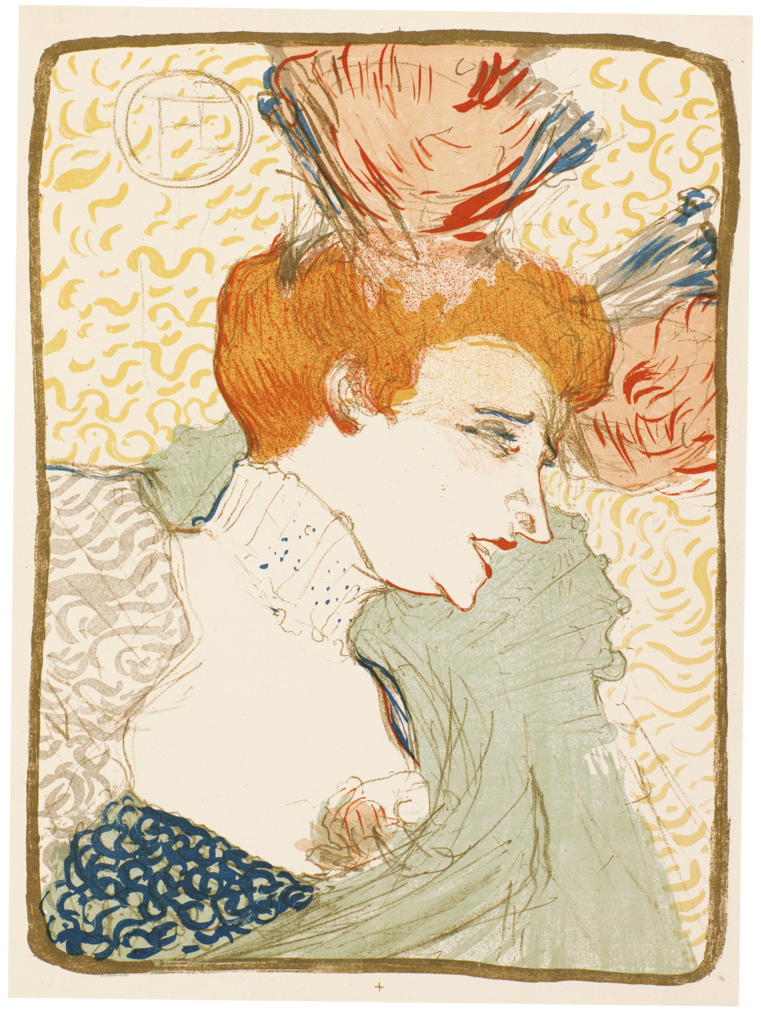 Henri de Toulouse-Lautrec-Mademoiselle Marcelle Lender, En Buste (Delteil 102; Adriani 115;Wittrock 99)-1895