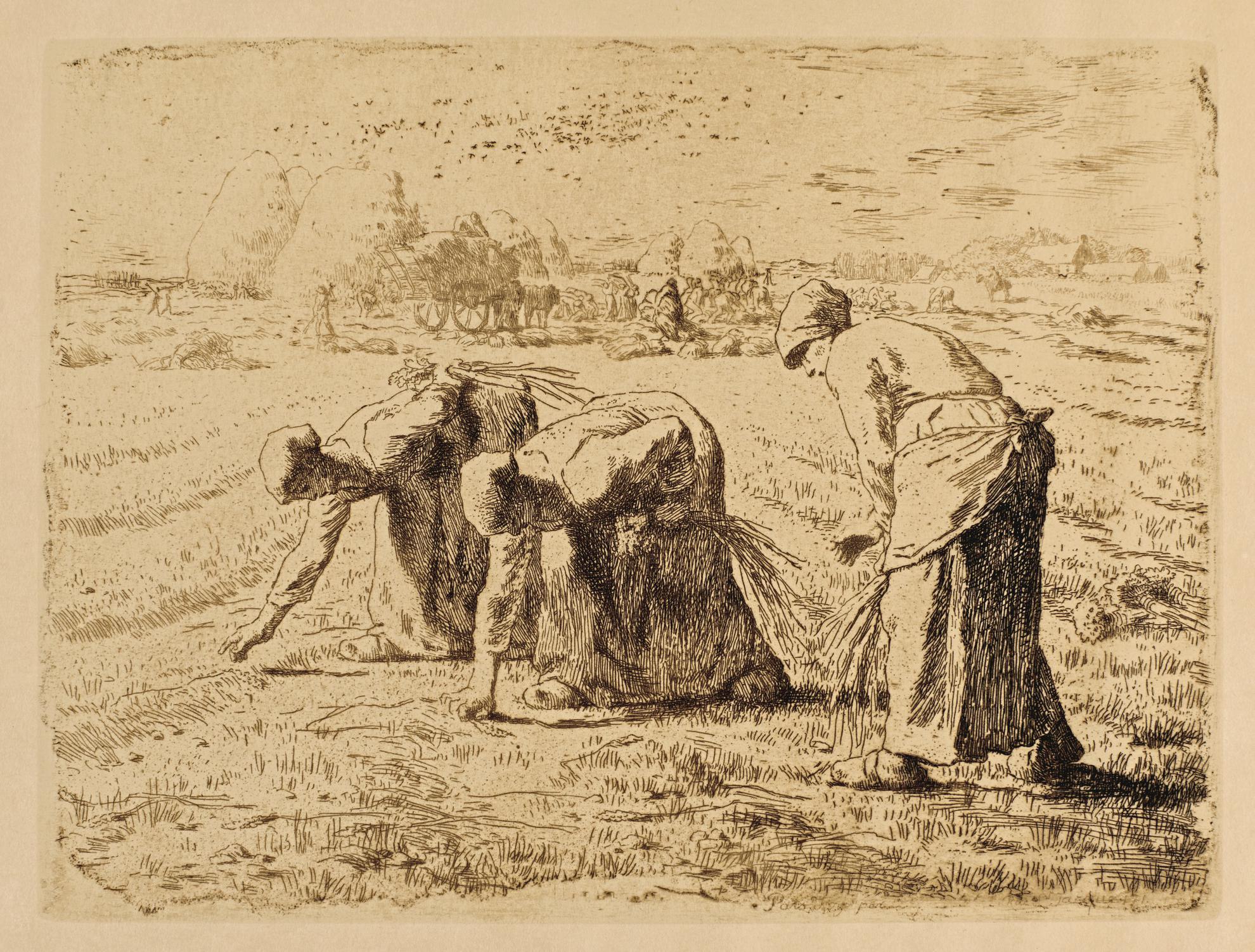 Joseph Francois Millet - Les Glaneuses (Duthuit, Melot 12)-1889