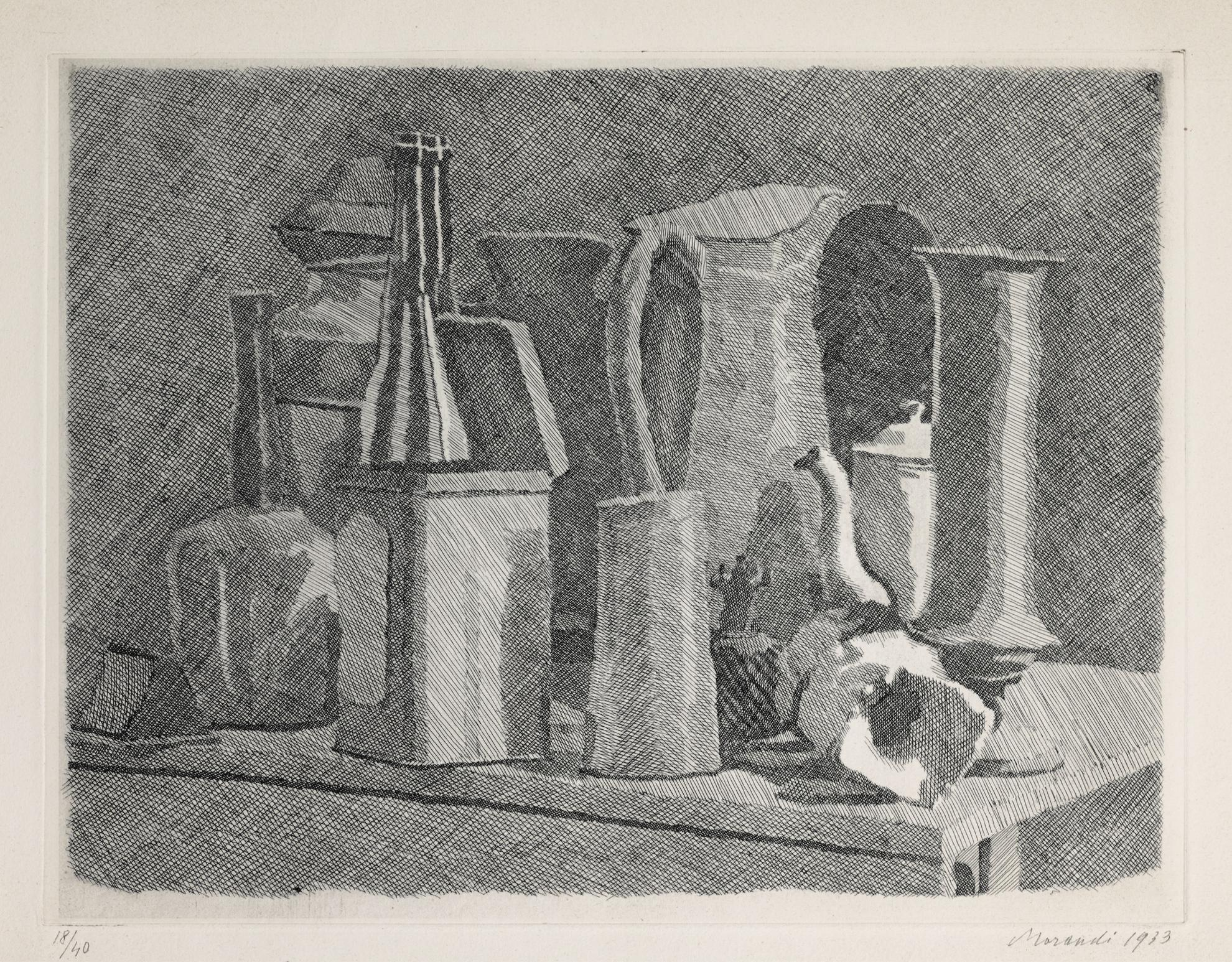 Giorgio Morandi-Grande Natura Morta Con La Caffettiera (V. 99)-1933