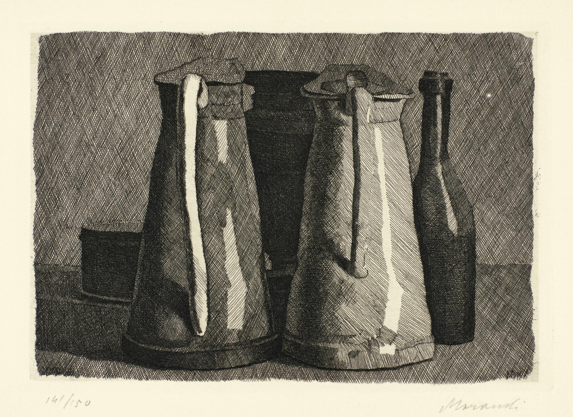 Giorgio Morandi-Natura Morta Con Cinque Oggetti (V. 116)-1956