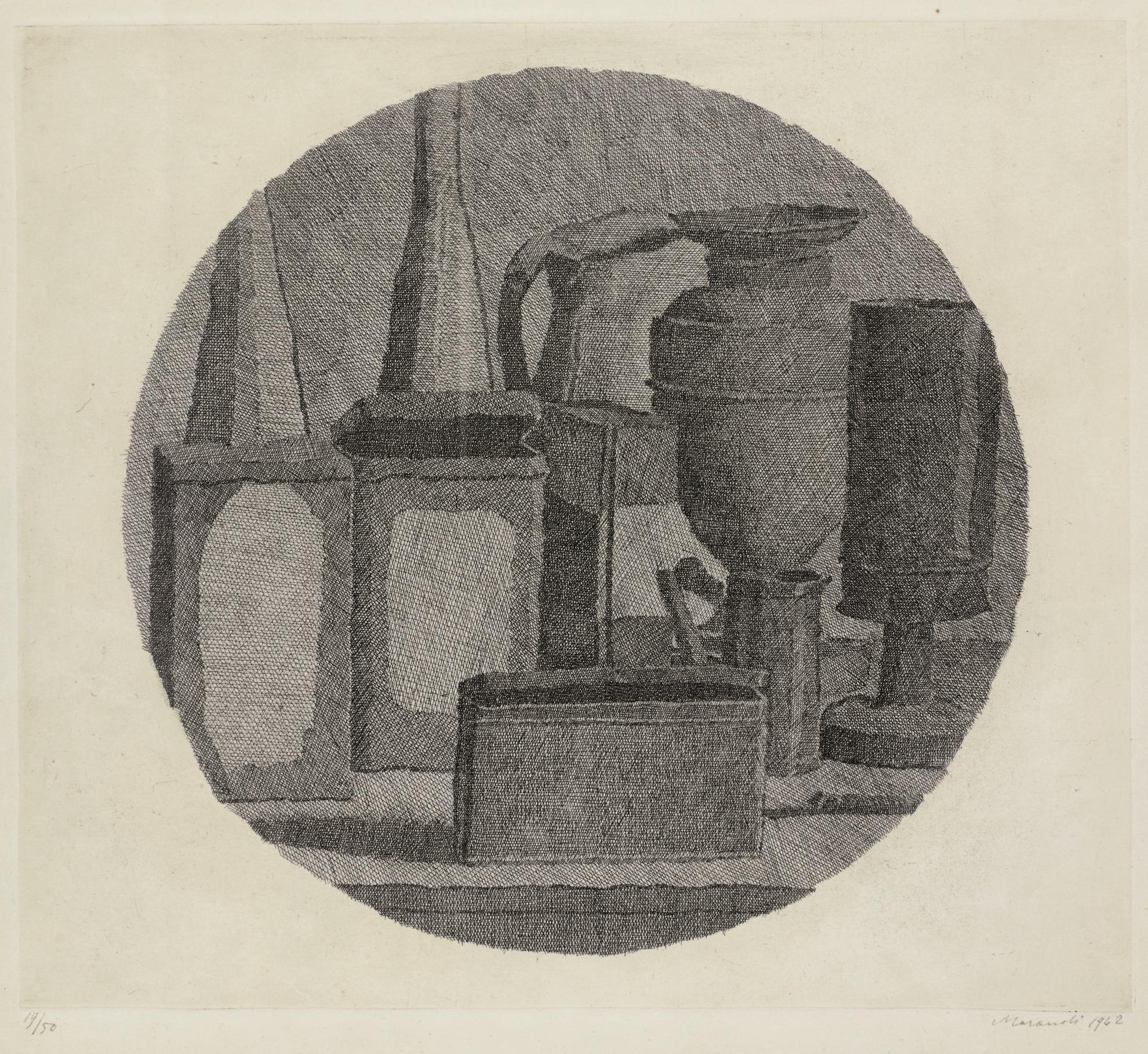 Giorgio Morandi-Natura Morta In Un Tondo (V. 109)-1942