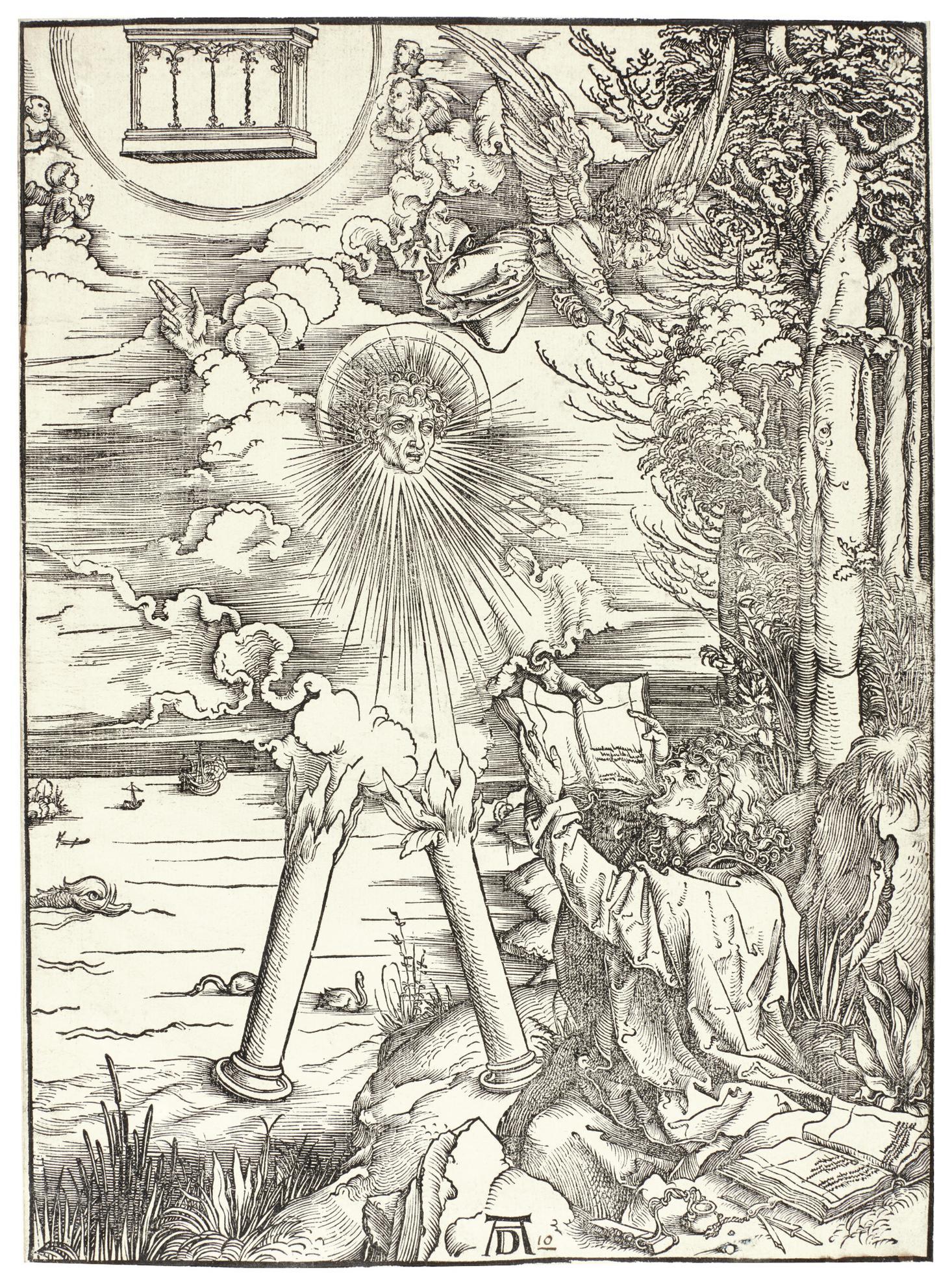 Albrecht Durer-St. John Devouring The Book (B. 70; M., Holl. 172)-1498