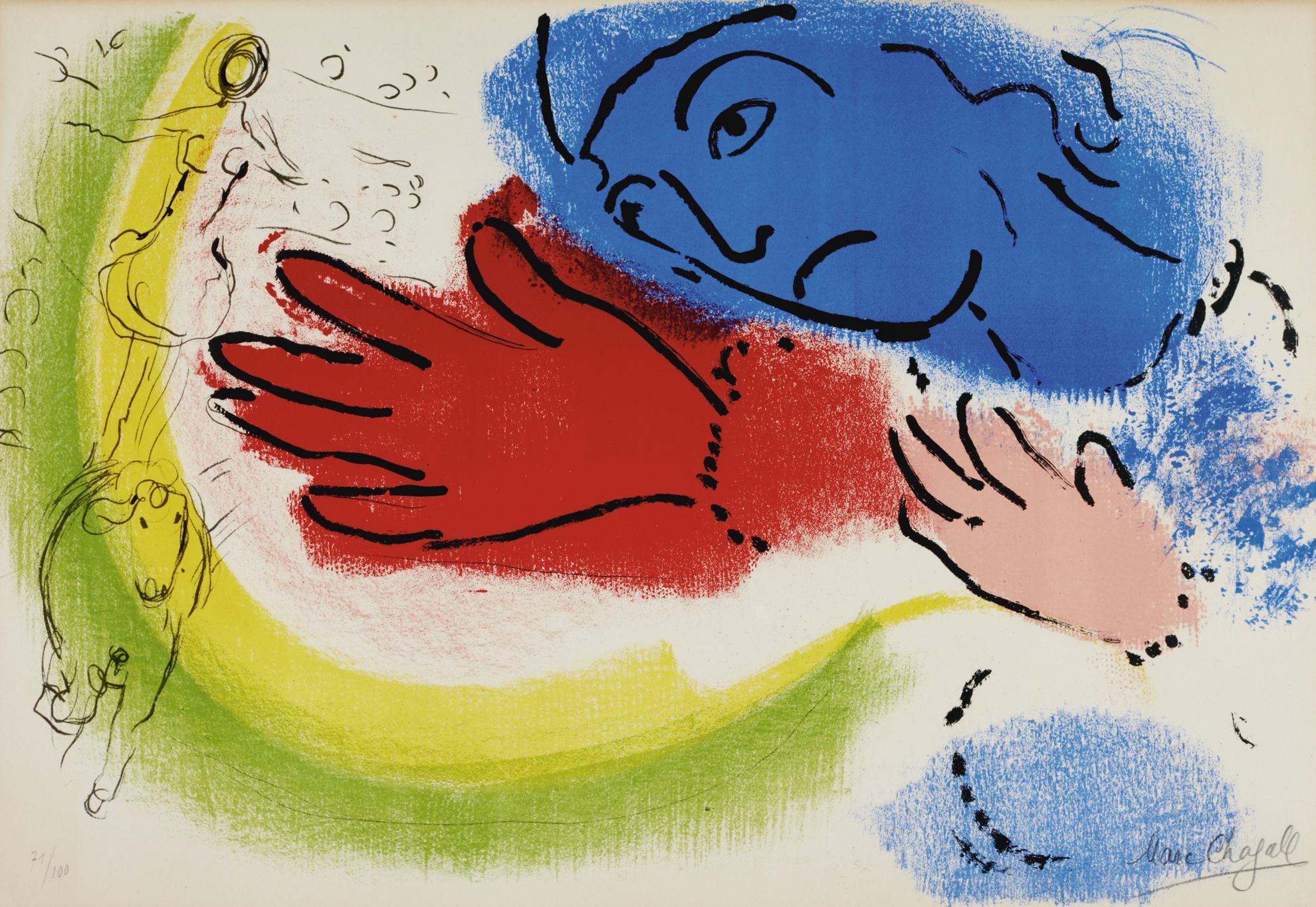 Marc Chagall-Nu A La Corbeille De Fruits; Lecuyere; And Daphnis Et Chloe (M. 91, 153, 228)-1959