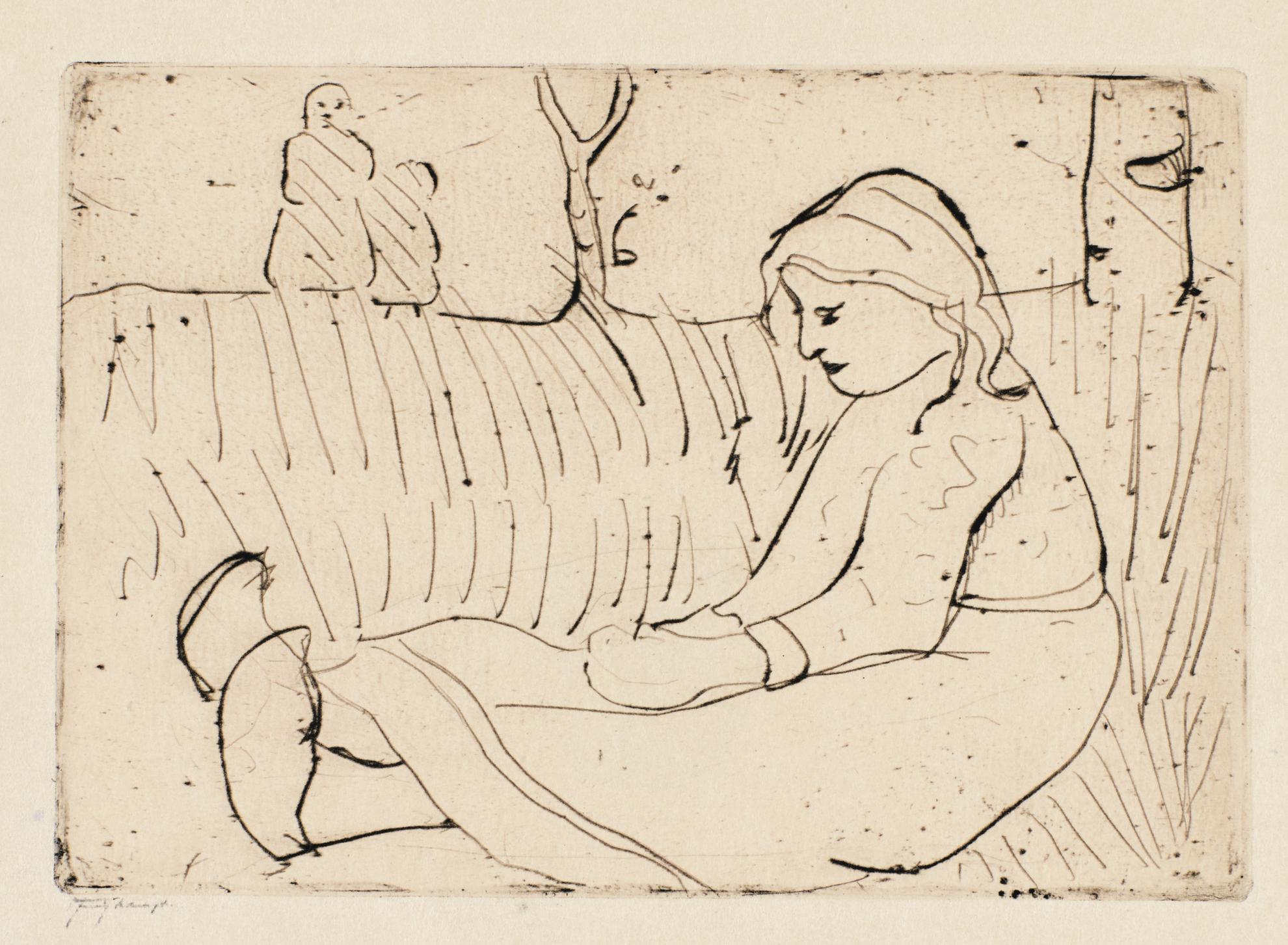 Paula Modersohn-Becker - Sitzendes Kind (Bremen 9)-1902