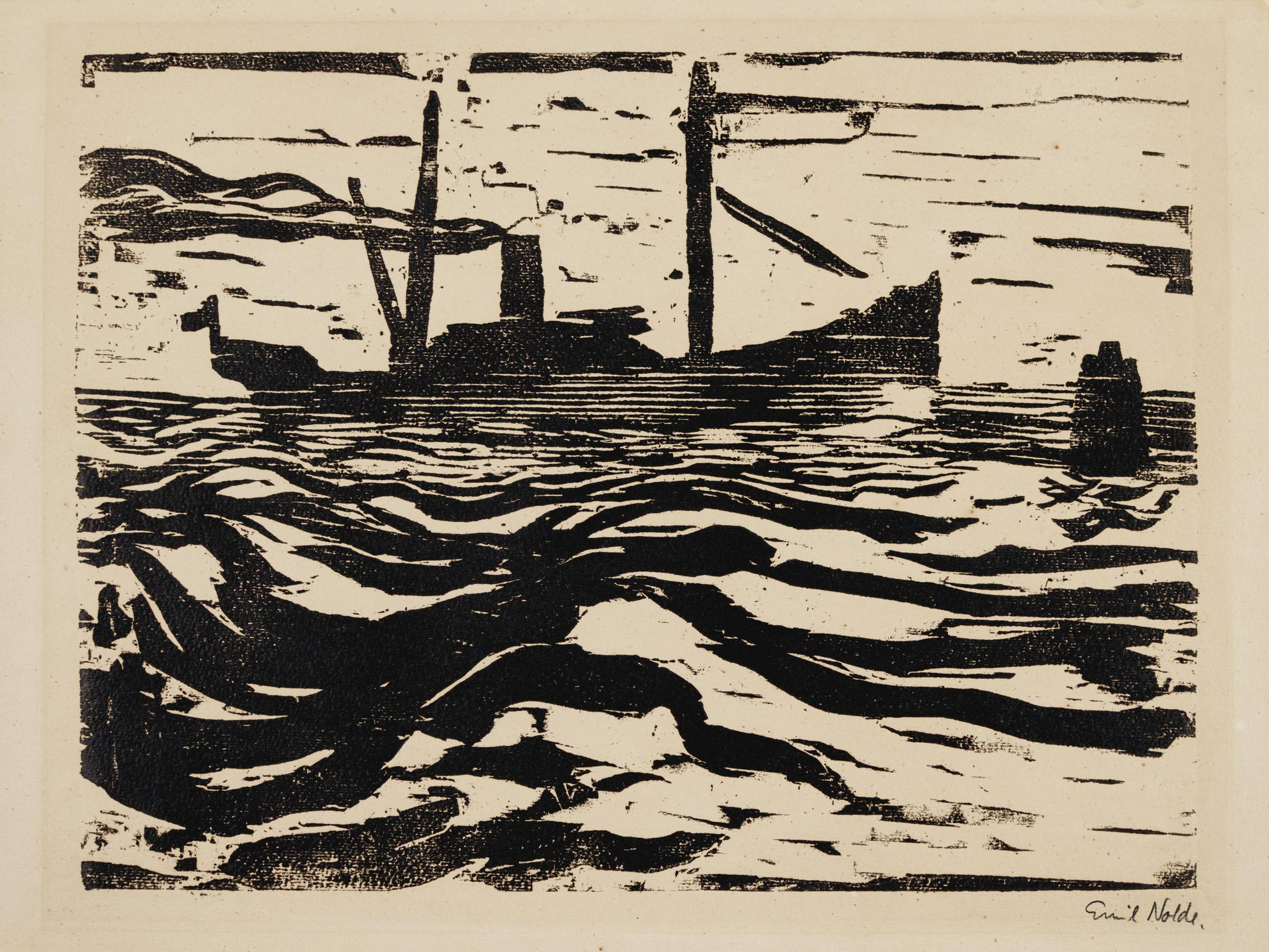 Emil Nolde-Fischdampfer (Schiefler/Mosel H34)-1910