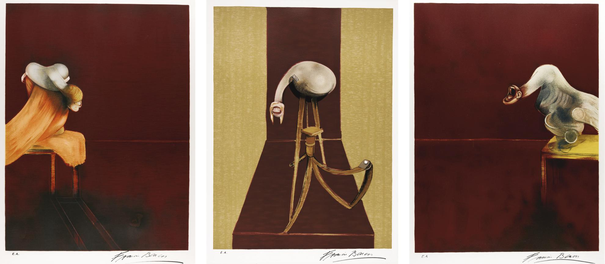 Francis Bacon-Second Version Of The Triptych, 1944 (Sabatier 24)-1989