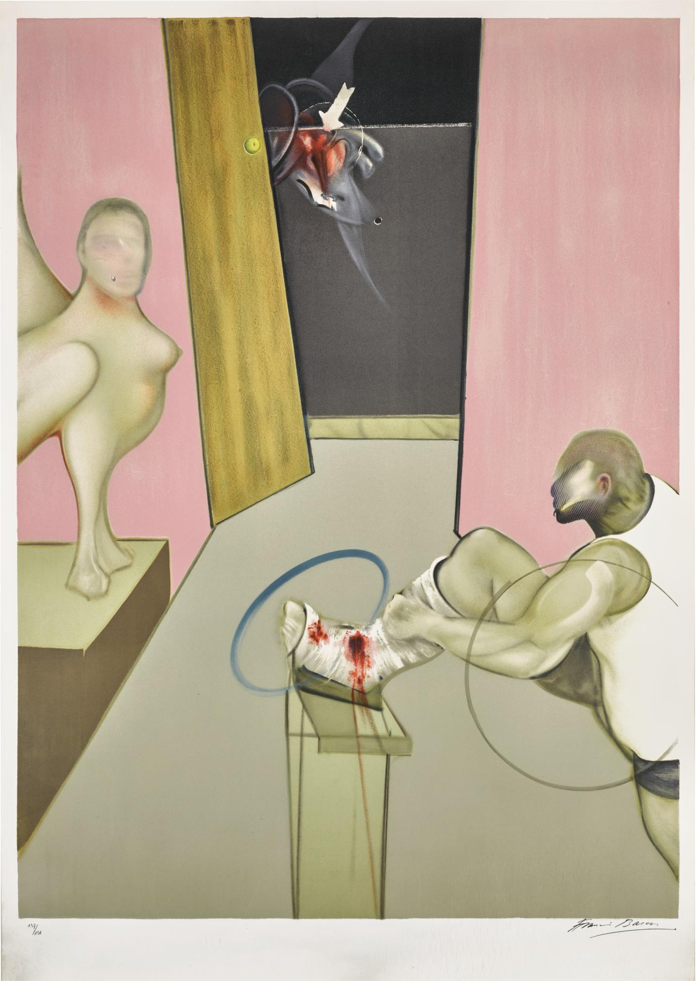 Francis Bacon-Oedipus And The Sphinx After Ingres (S. 18)-1984