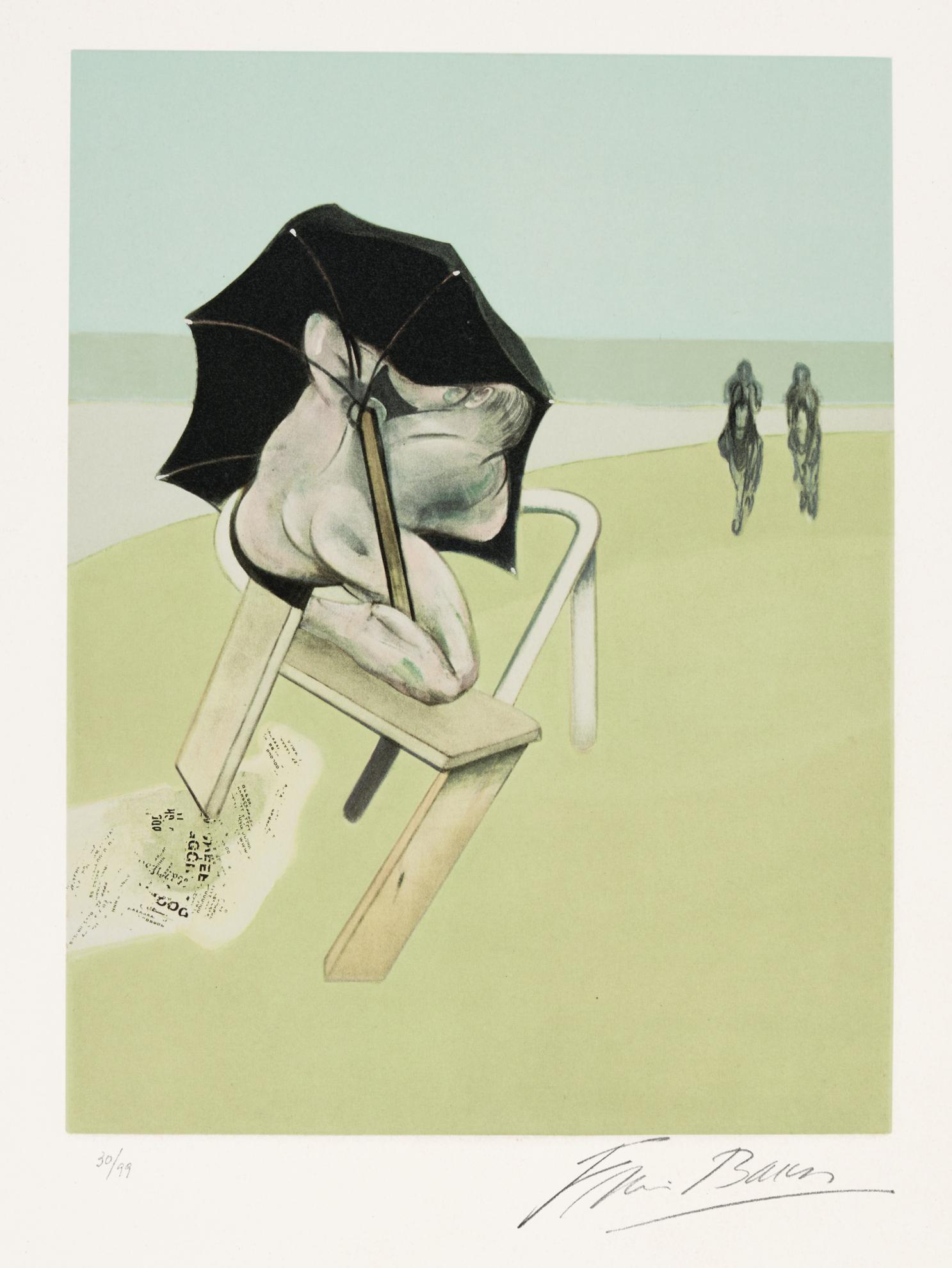 Francis Bacon-Triptych, Left Panel (S. 4)-1981