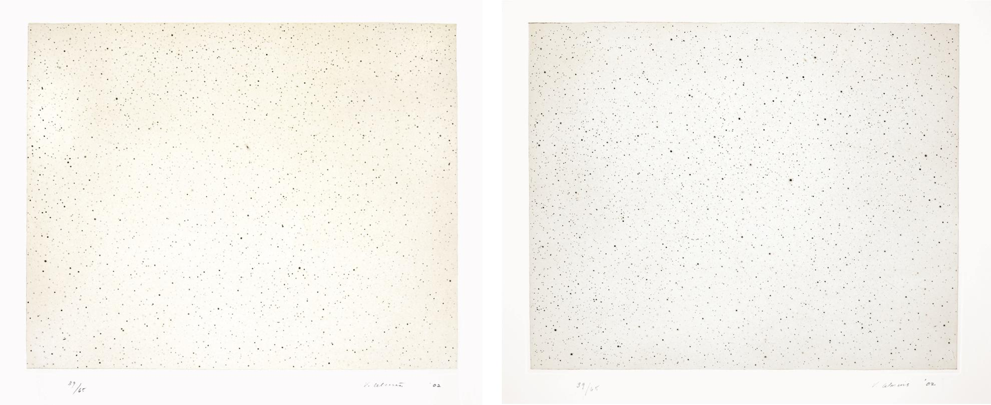 Vija Celmins-Night Sky 1 (Reversed); And Night Sky 2 (Reversed)-2002
