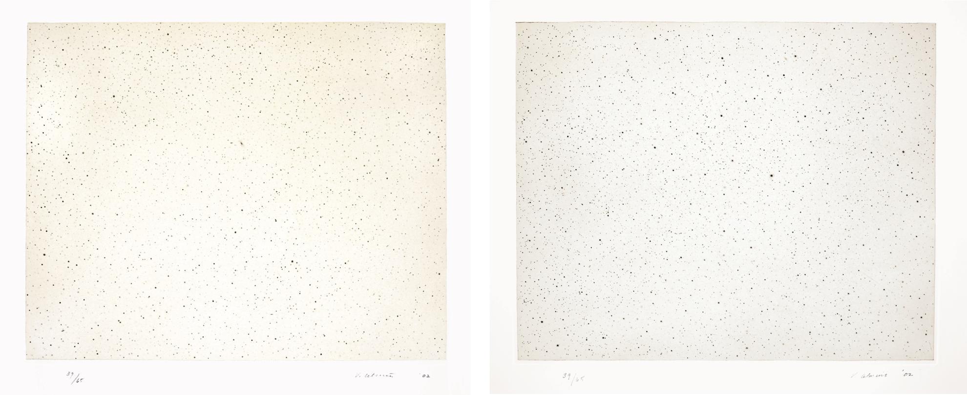 Vija Celmins-Night Sky 1 (Reversed); And Night Sky 2 (Reversed)-2002