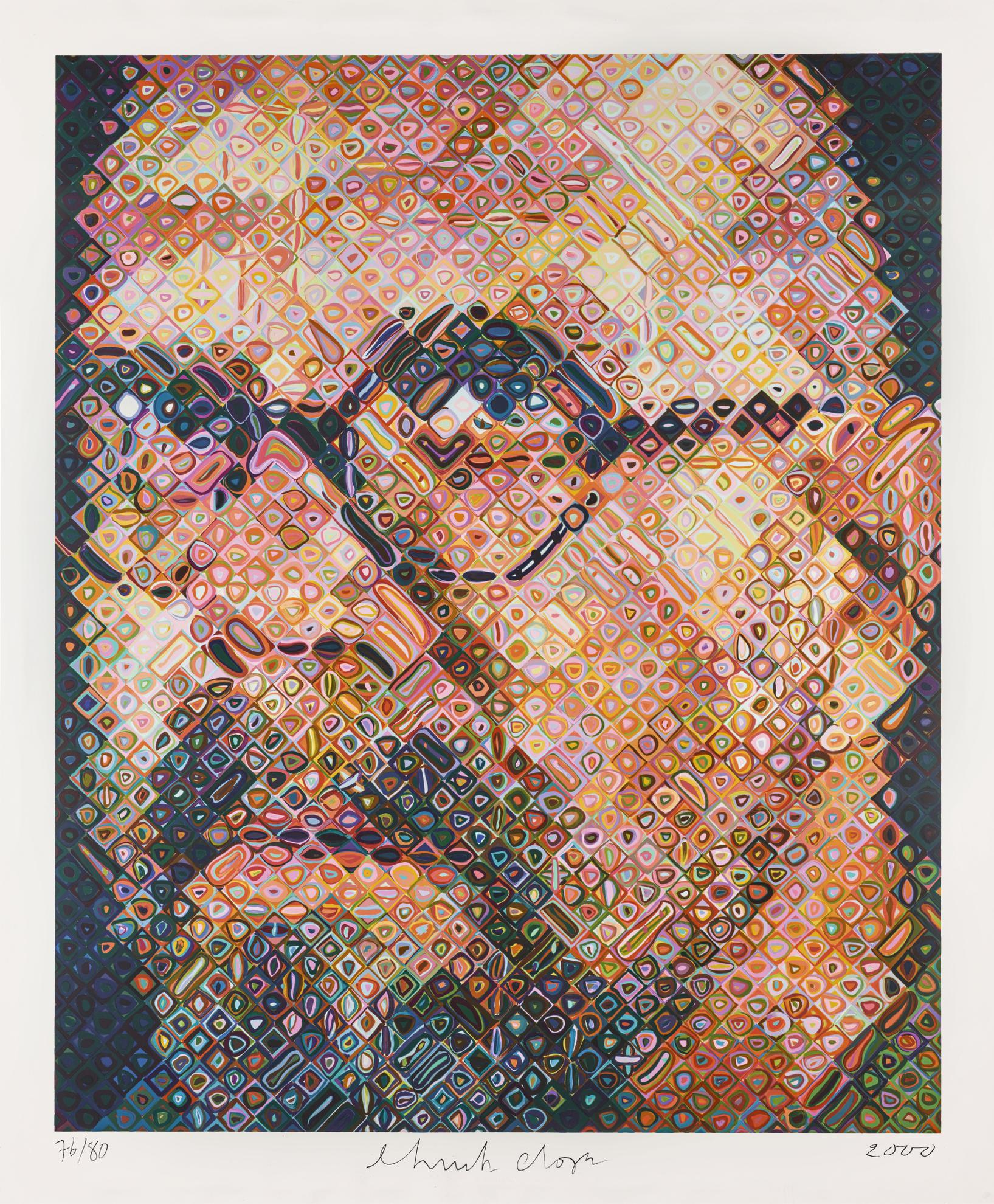Chuck Close-Self-Portrait-2000