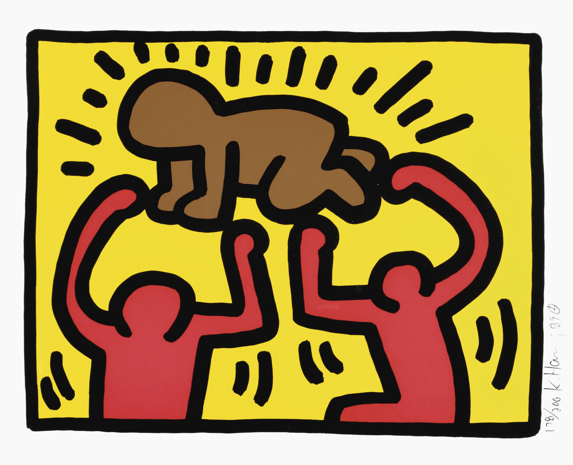 Keith Haring-Pop Shop Iv: One Plate (L. P. 146)-1989